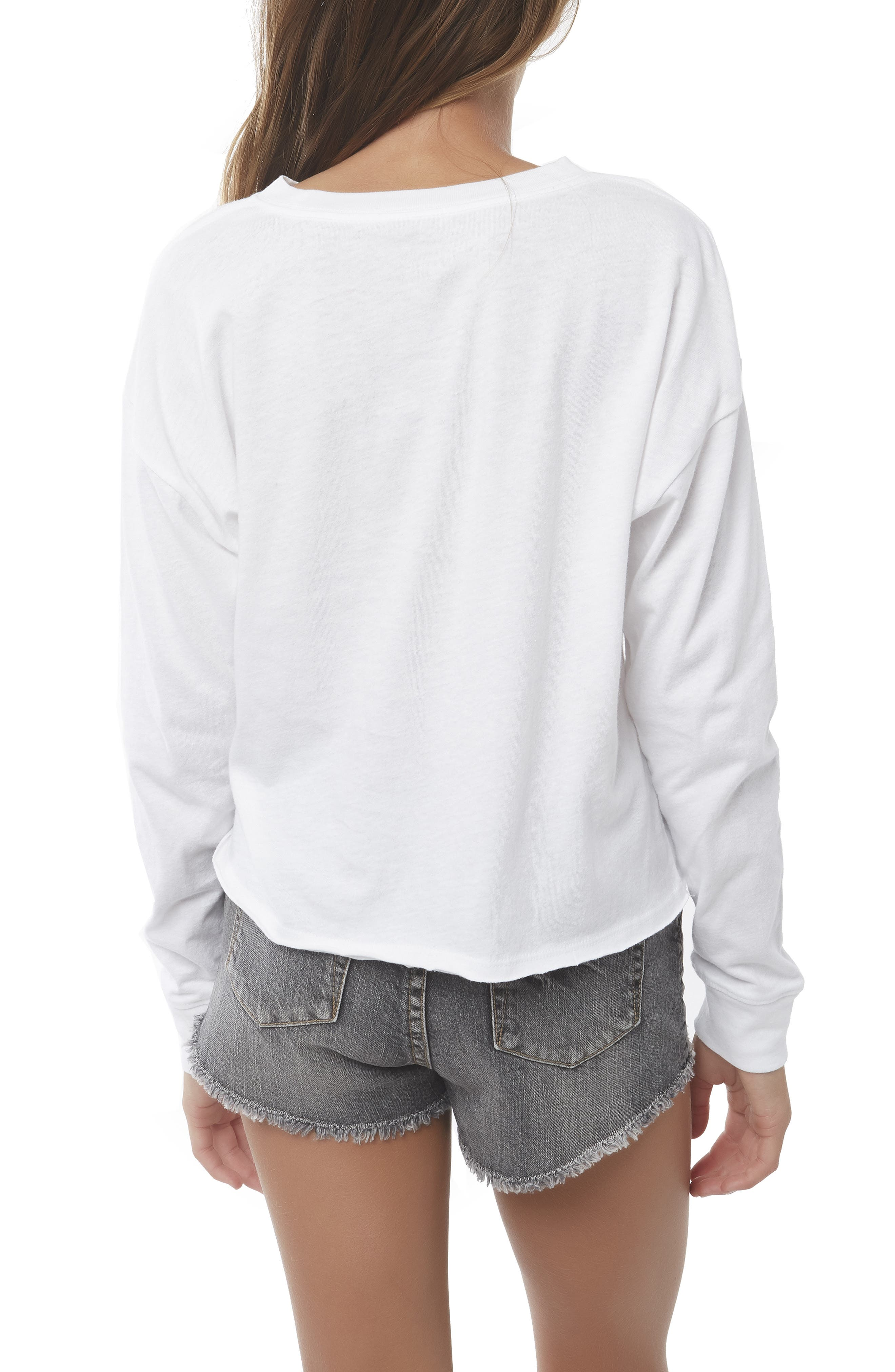 O'NEILL, Boardwalk Graphic Tee, Alternate thumbnail 3, color, 100