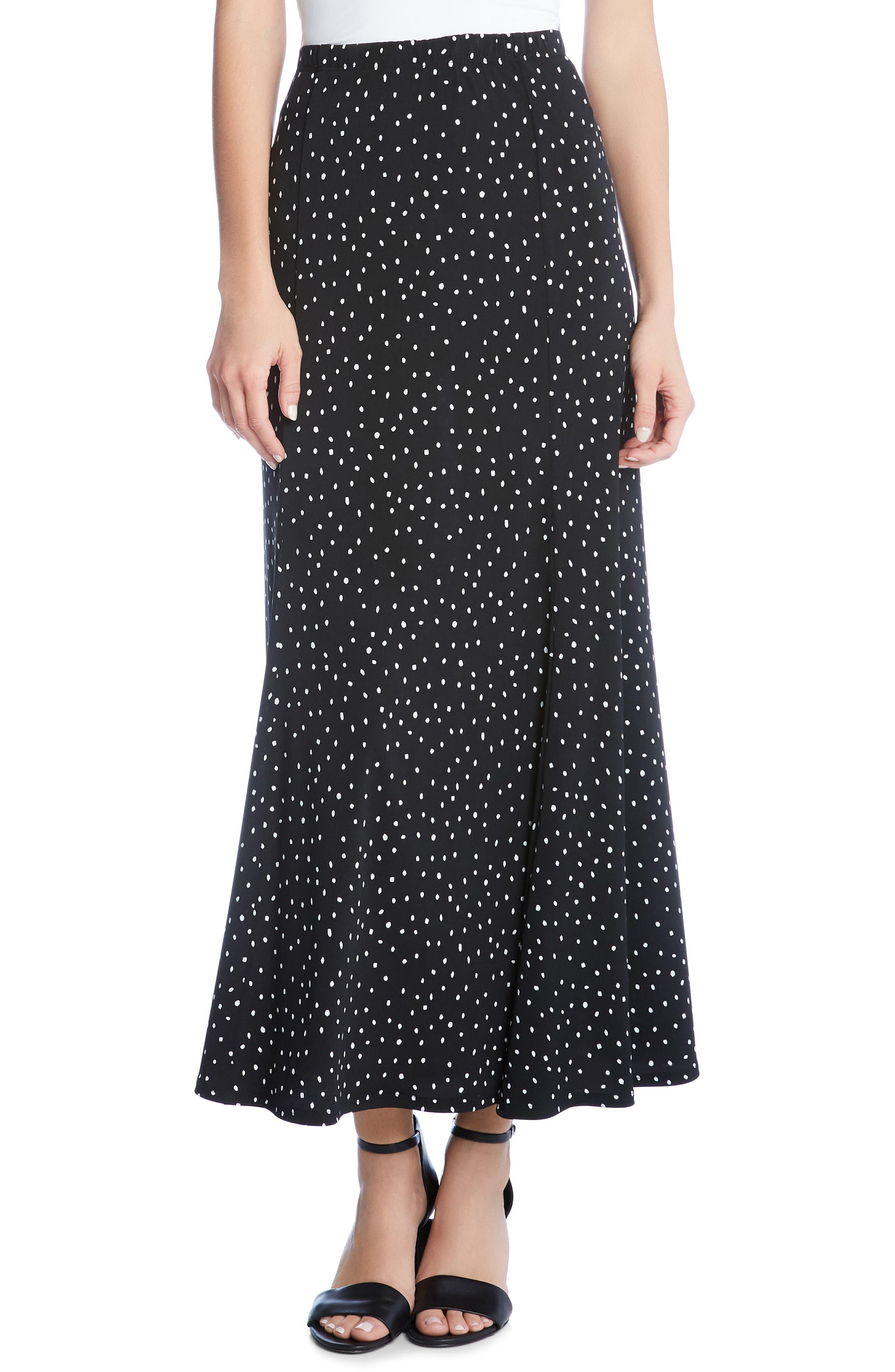 KAREN KANE, Dot Maxi Skirt, Main thumbnail 1, color, 001