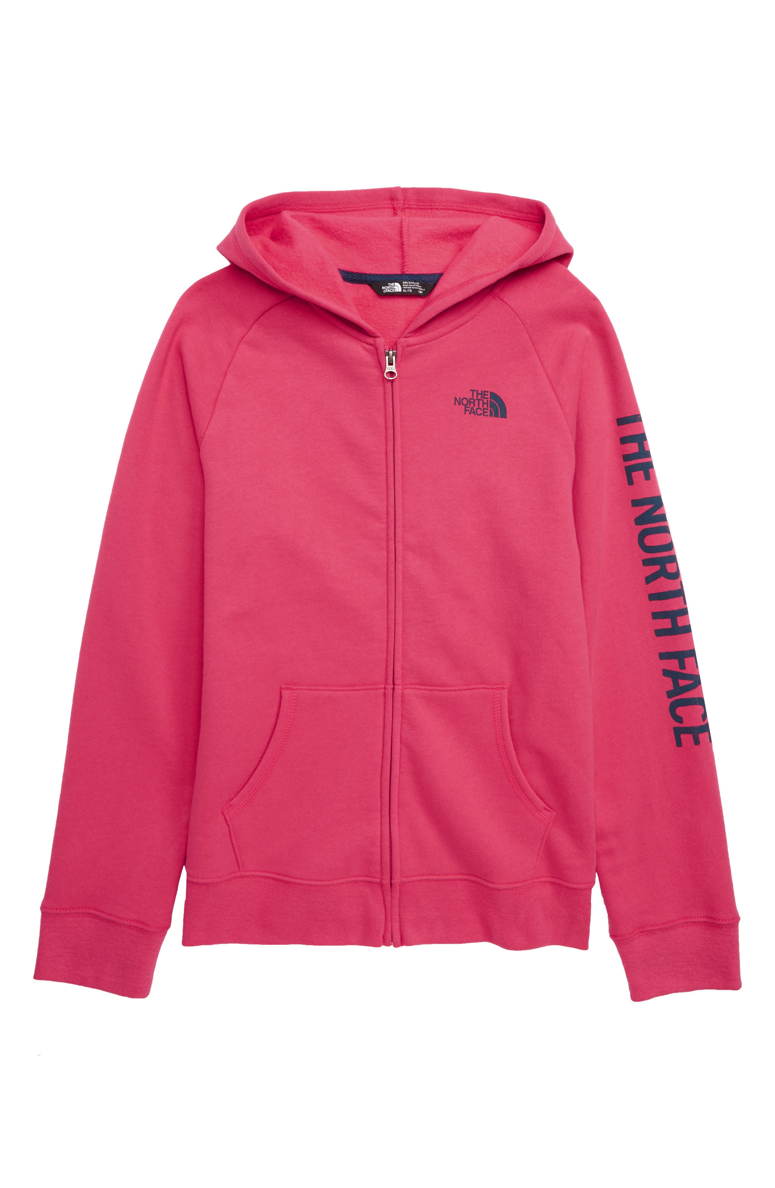 Girls The North Face Logowear Full Zip Hoodie Size L (1416)  Pink