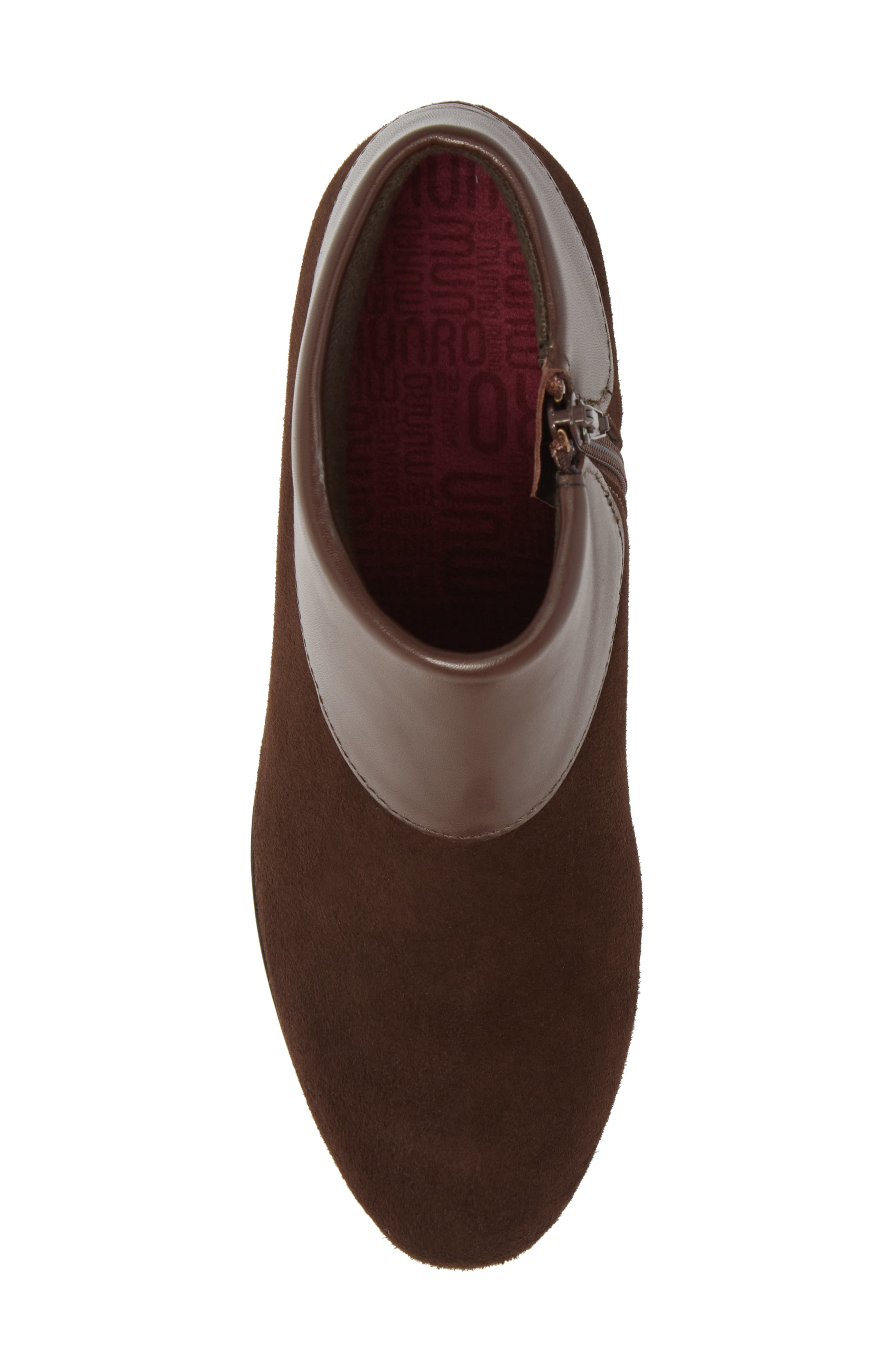 MUNRO, Gracee Boot, Alternate thumbnail 5, color, CHOCOLATE LEATHER