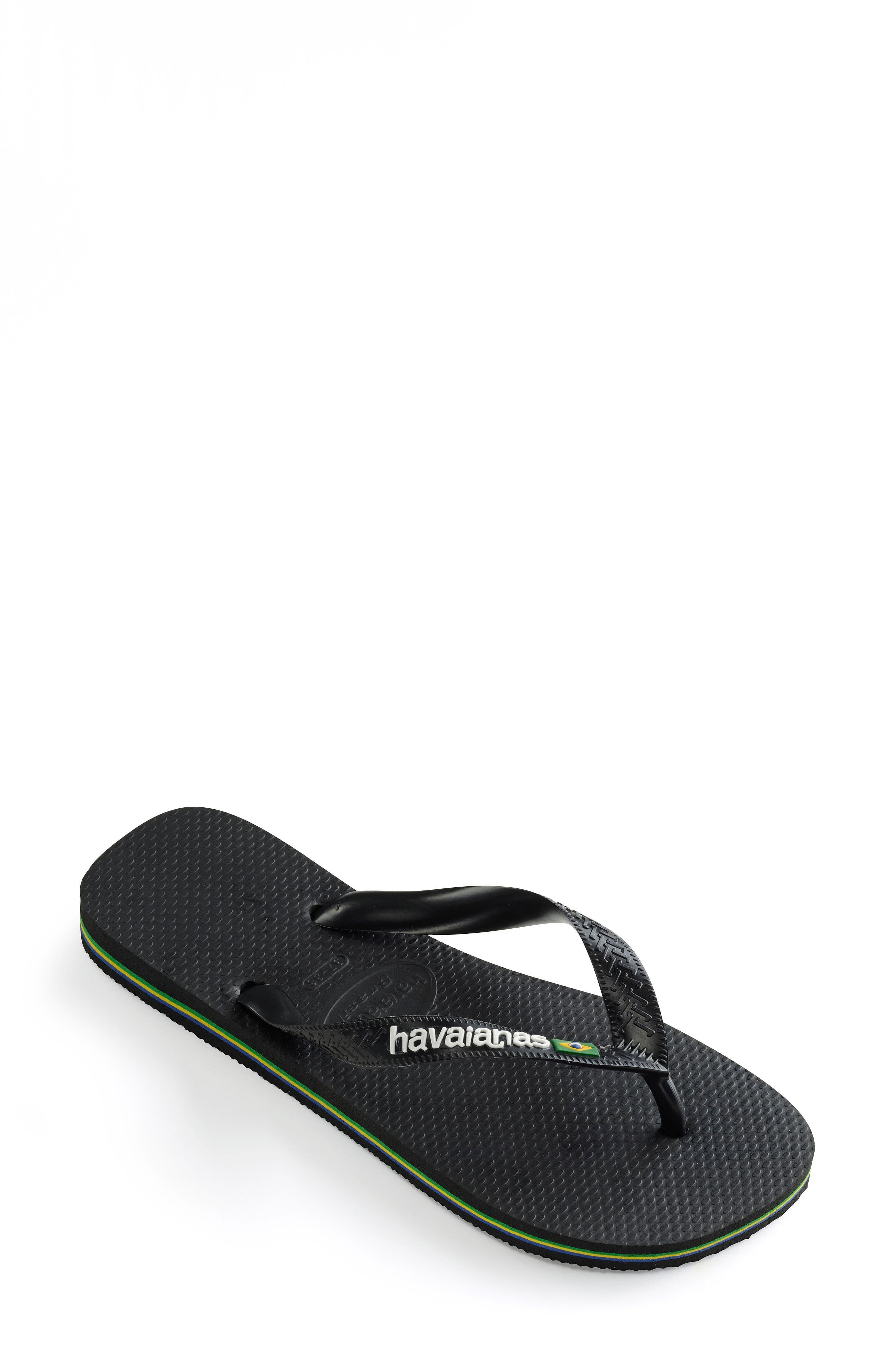 HAVAIANAS, Brazil Flip Flop, Alternate thumbnail 2, color, BLACK/ BLACK