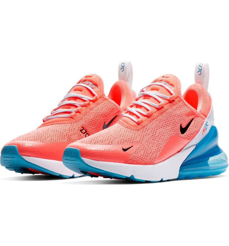 new styles b98e4 85d56 NIKE Air Max 270 Sneaker, Main, color, LAVA GLOW  BLACK-WHITE