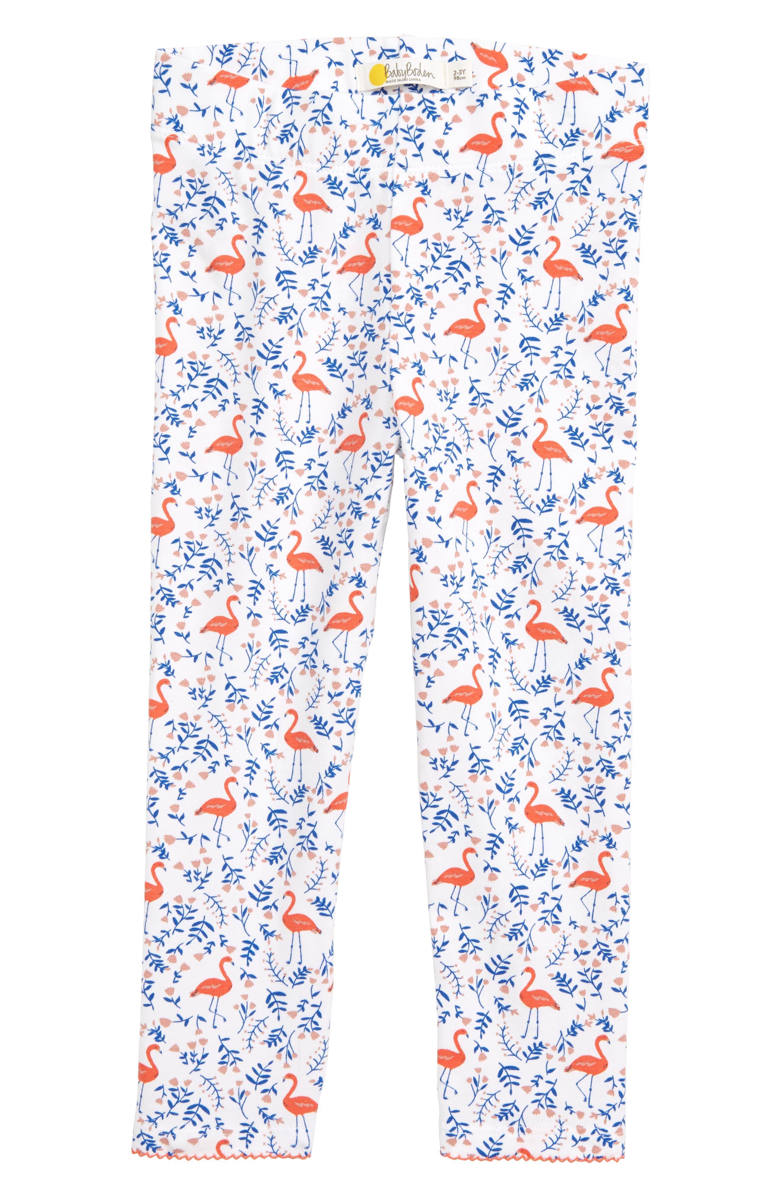 Toddler Girls Mini Boden Print Leggings