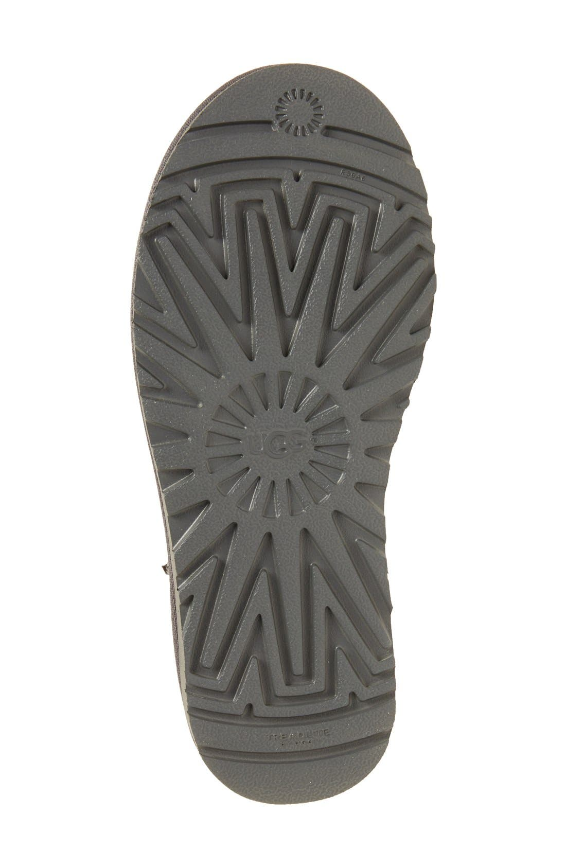 UGG<SUP>®</SUP>, Classic II Genuine Shearling Lined Tall Boot, Alternate thumbnail 4, color, GREY SUEDE