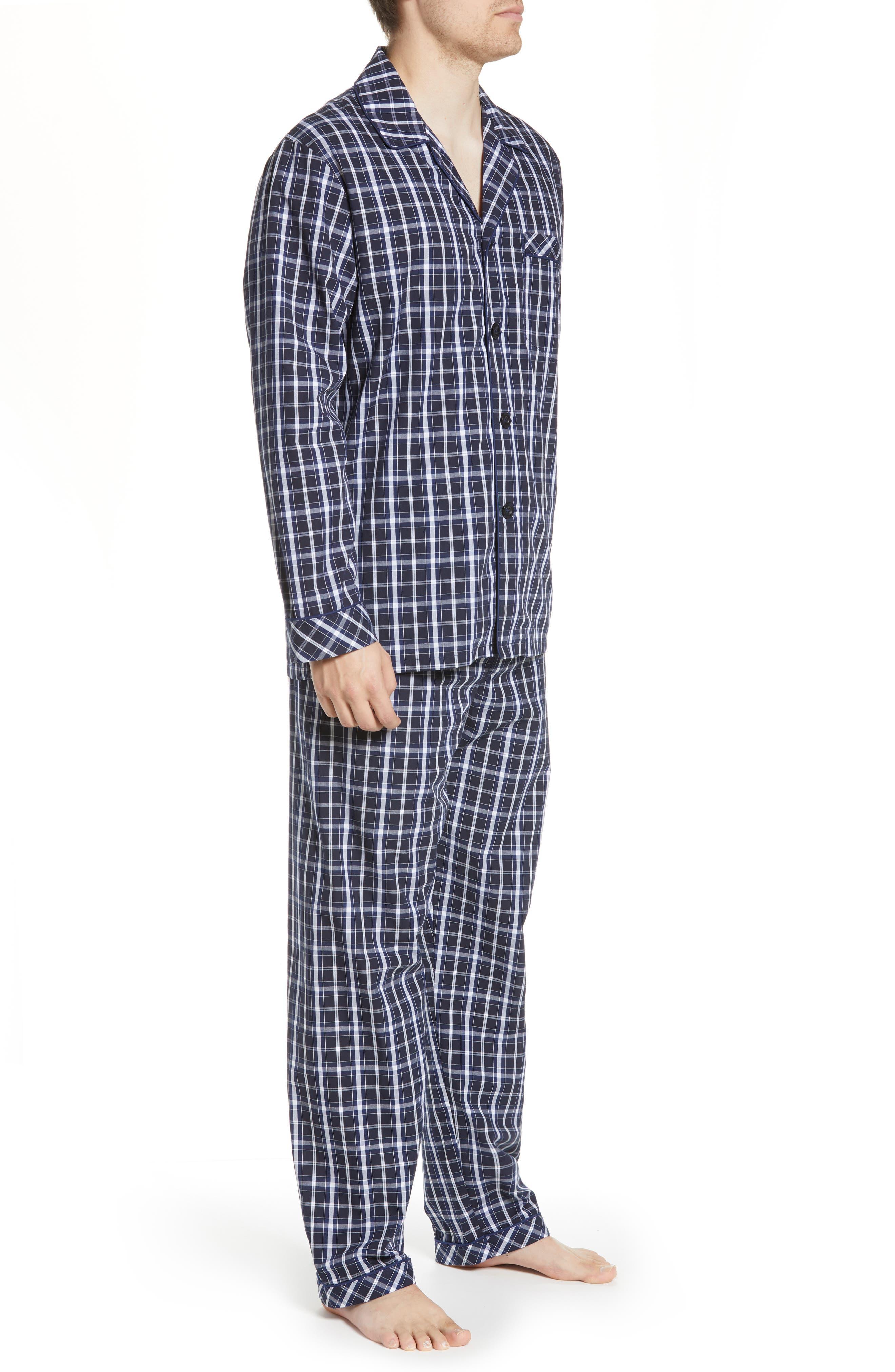 MAJESTIC INTERNATIONAL, Marcus Cotton Pajamas, Alternate thumbnail 3, color, 402