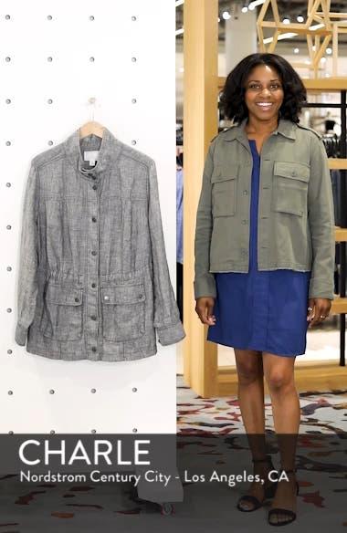 ec2d16209db Caslon® Cinch Waist Linen Utility Jacket (Plus Size)