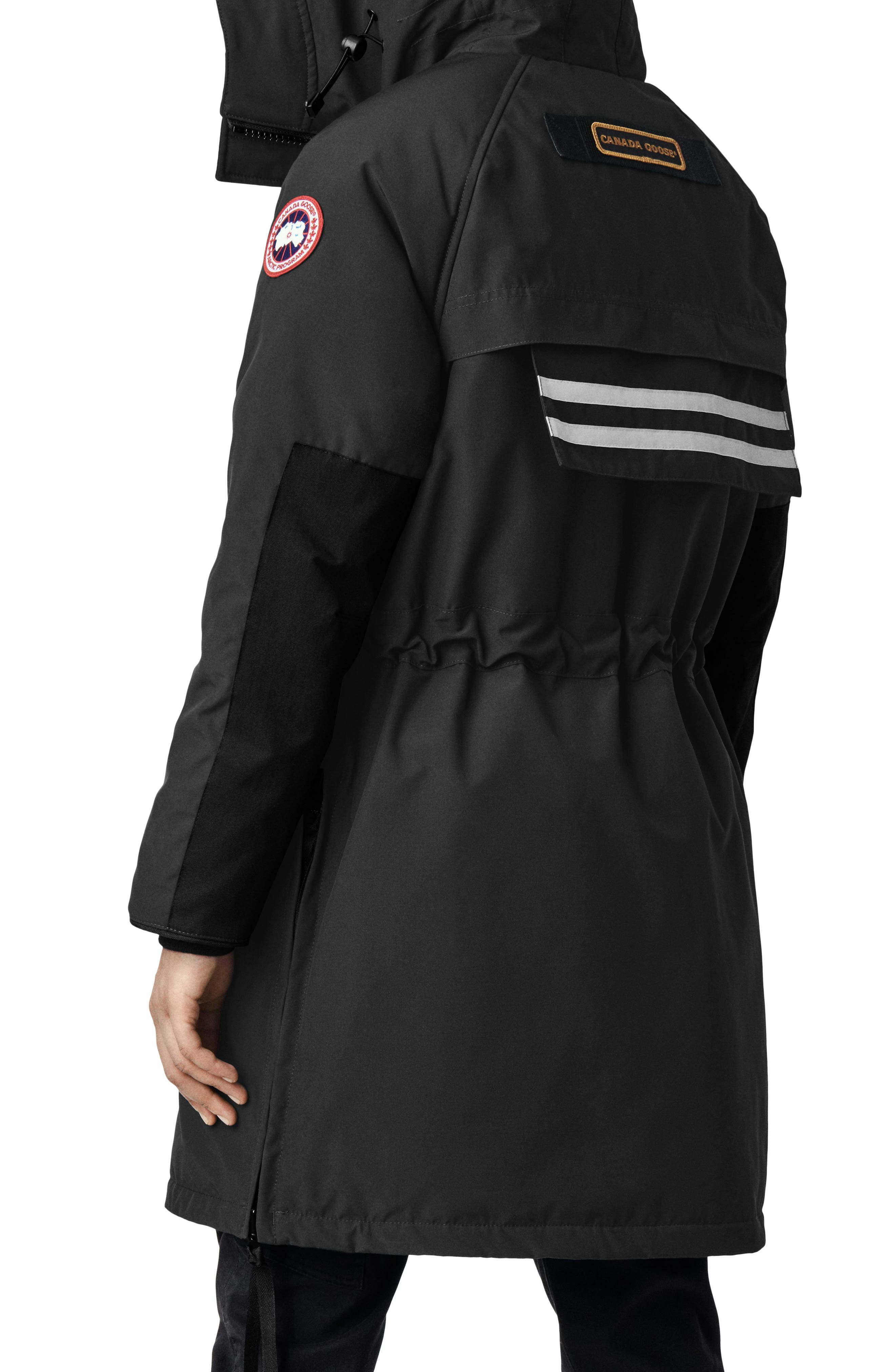 CANADA GOOSE, Olympia Down Parka, Alternate thumbnail 2, color, BLACK