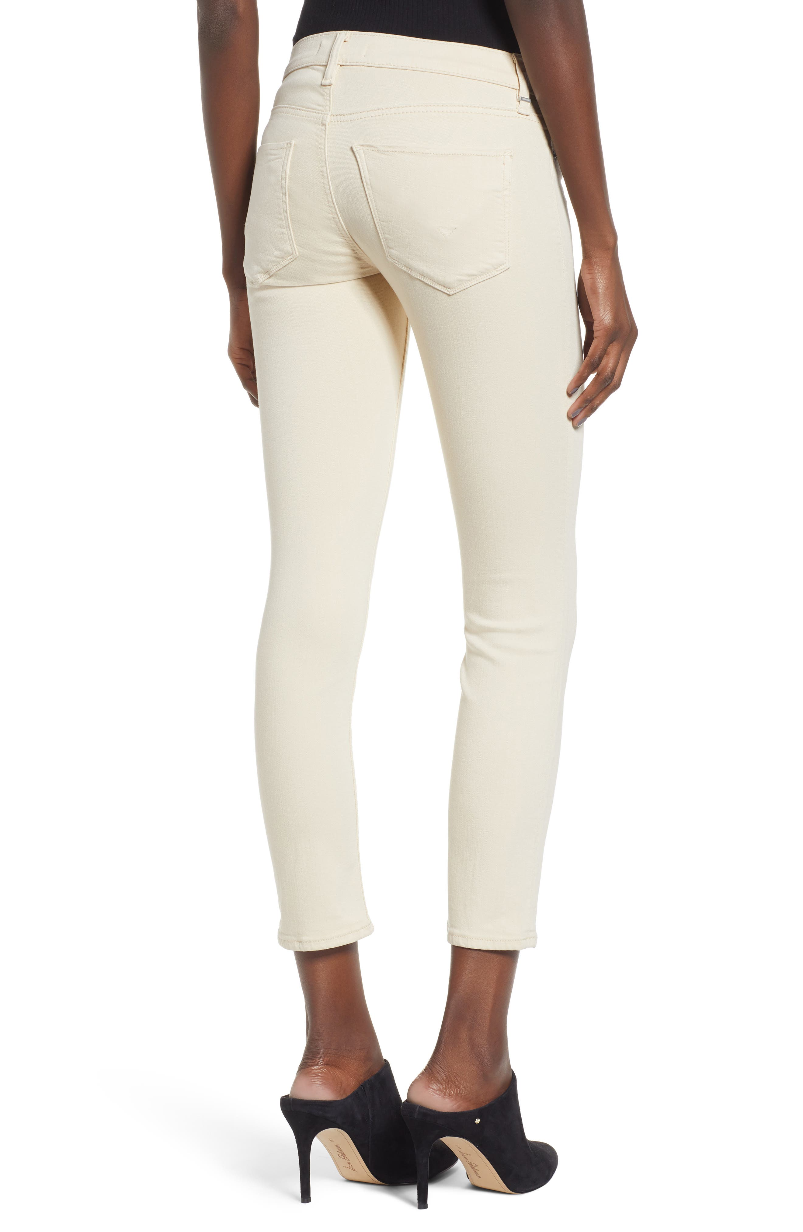 HUDSON JEANS, Tally Ankle Skinny Jeans, Alternate thumbnail 2, color, FAWN