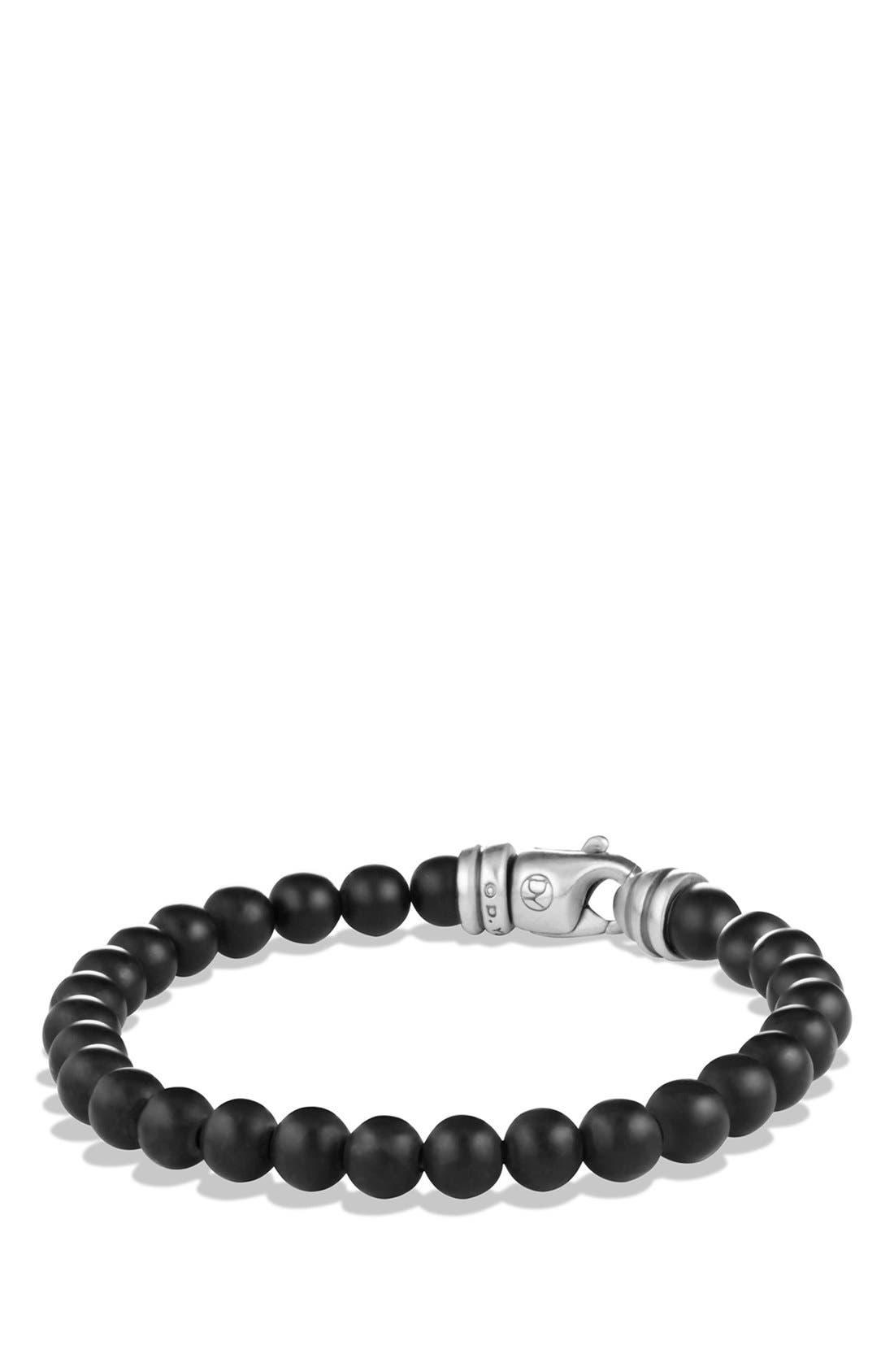DAVID YURMAN, 'Spiritual Beads' Bracelet, Main thumbnail 1, color, BLACK ONYX