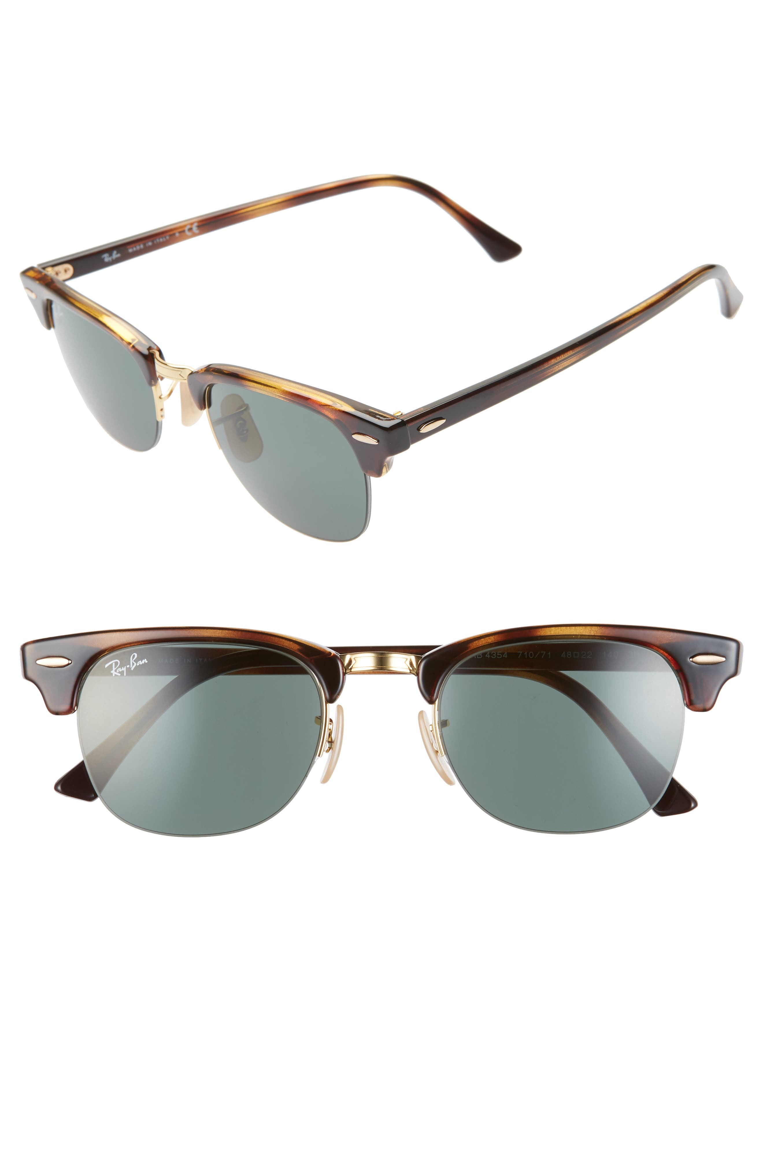 Ray-Ban 4m Clubmaster Sunglasses - Havana/ Gold Solid