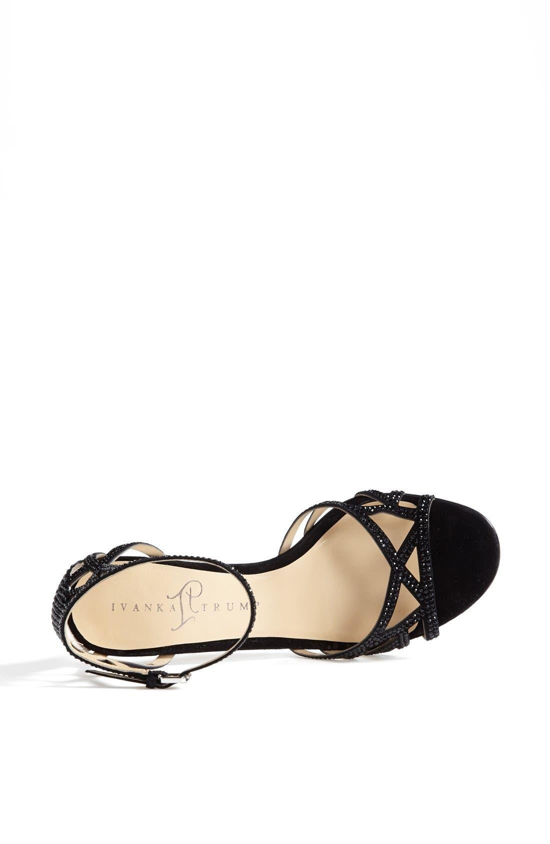 IVANKA TRUMP, 'Gifford' Crystal Embellished Sandal, Alternate thumbnail 2, color, 001