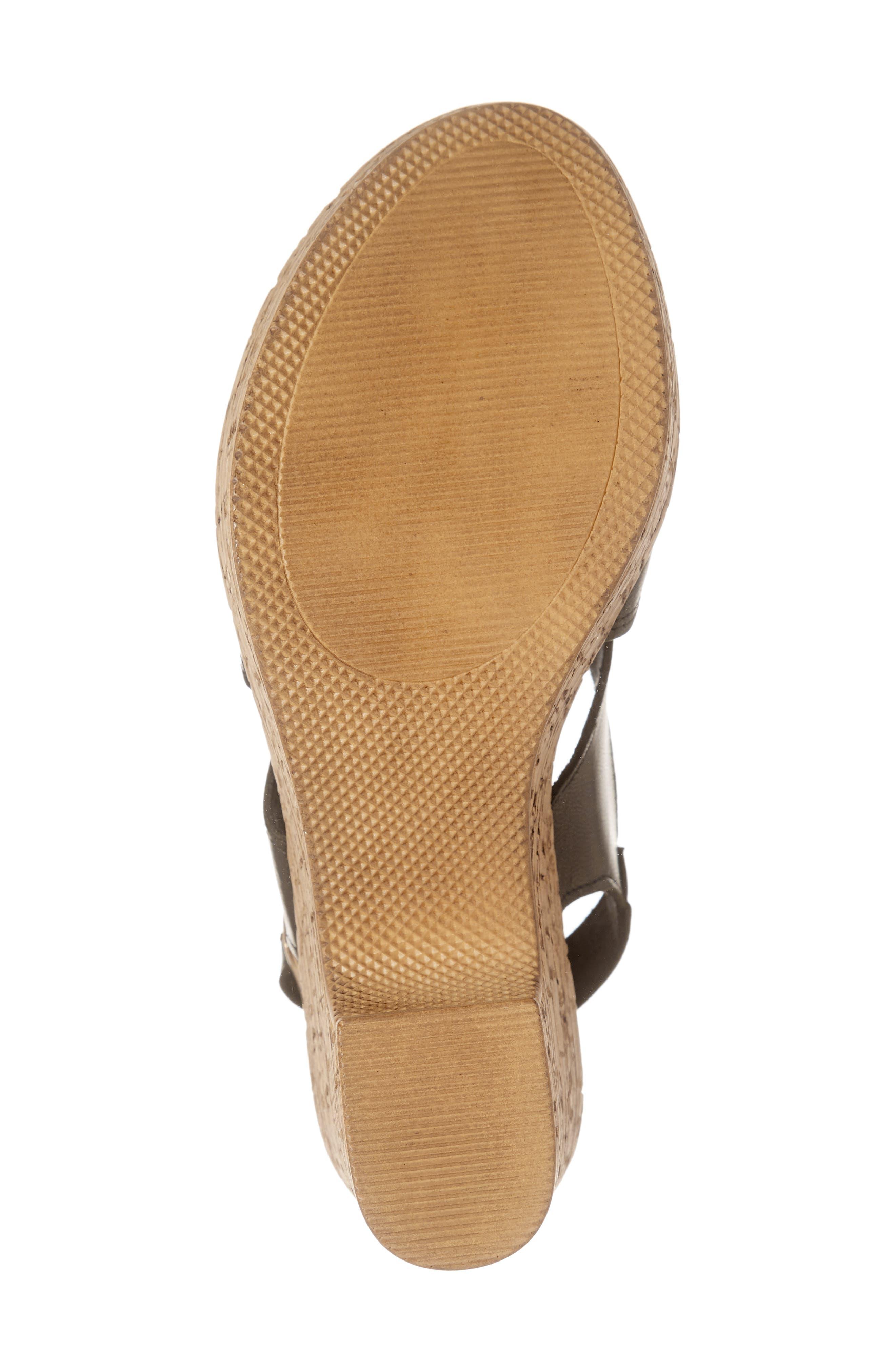 BELLA VITA, Jaz Platform Sandal, Alternate thumbnail 6, color, BLACK ITALIAN LEATHER