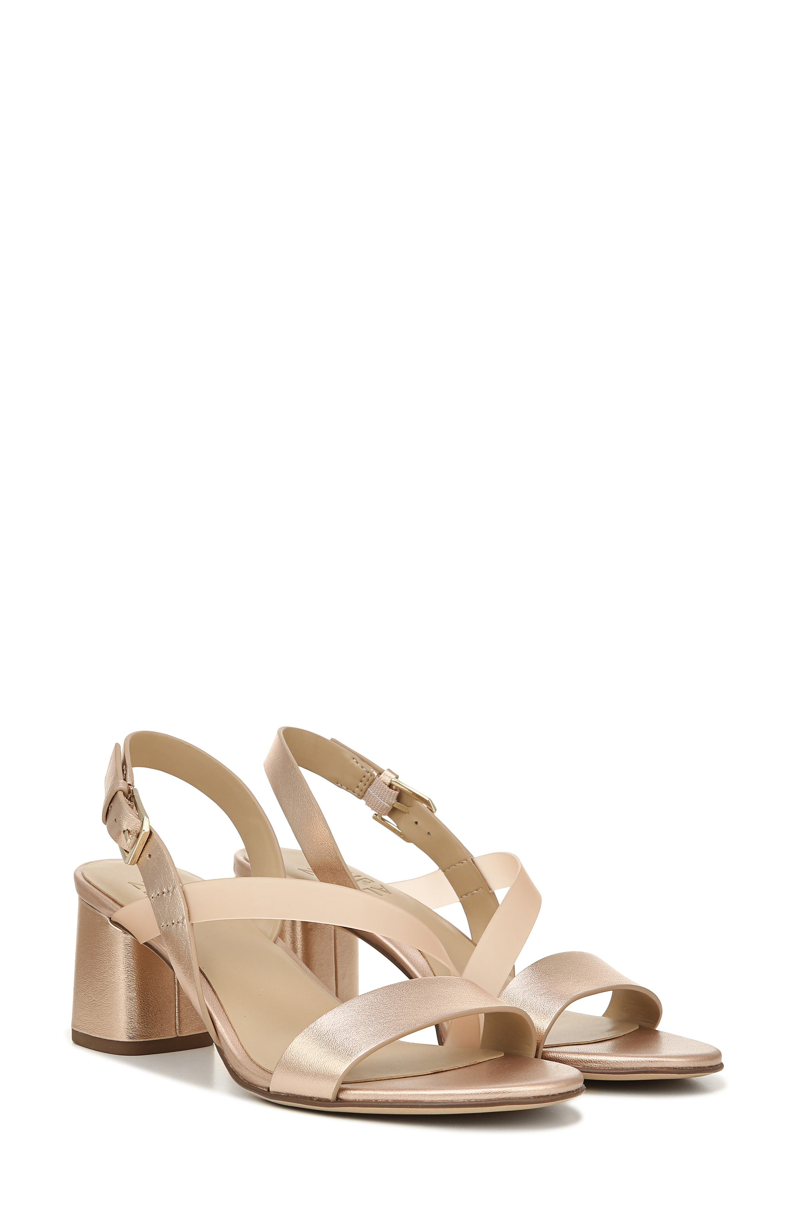 NATURALIZER, Arianna Block Heel Sandal, Alternate thumbnail 8, color, ROSE GOLD LEATHER