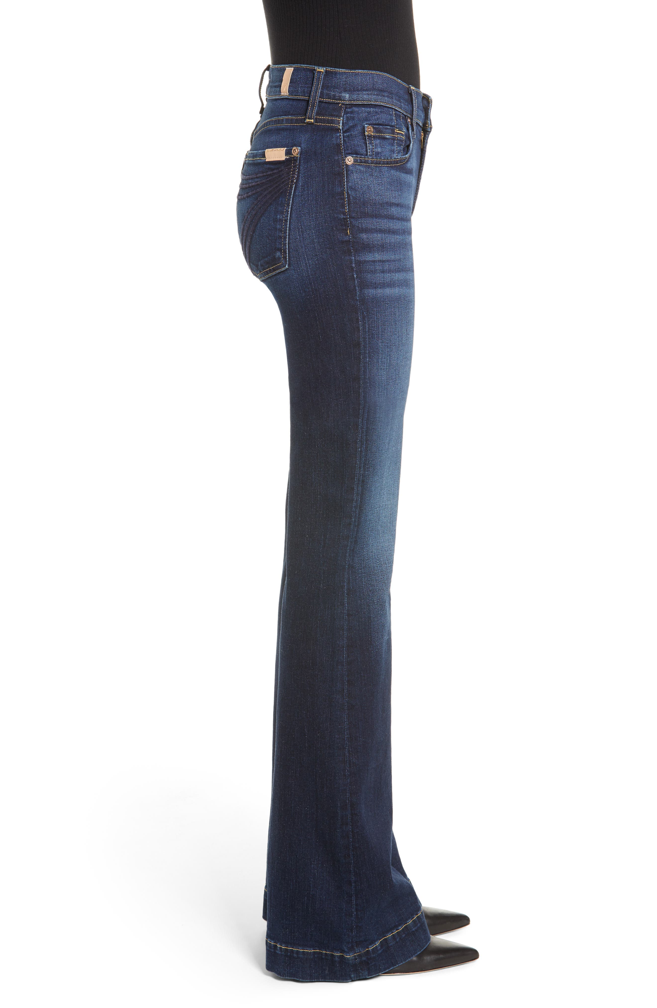 7 FOR ALL MANKIND<SUP>®</SUP>, Dojo Wide Leg Jeans, Alternate thumbnail 4, color, AUTHENTIC FATE