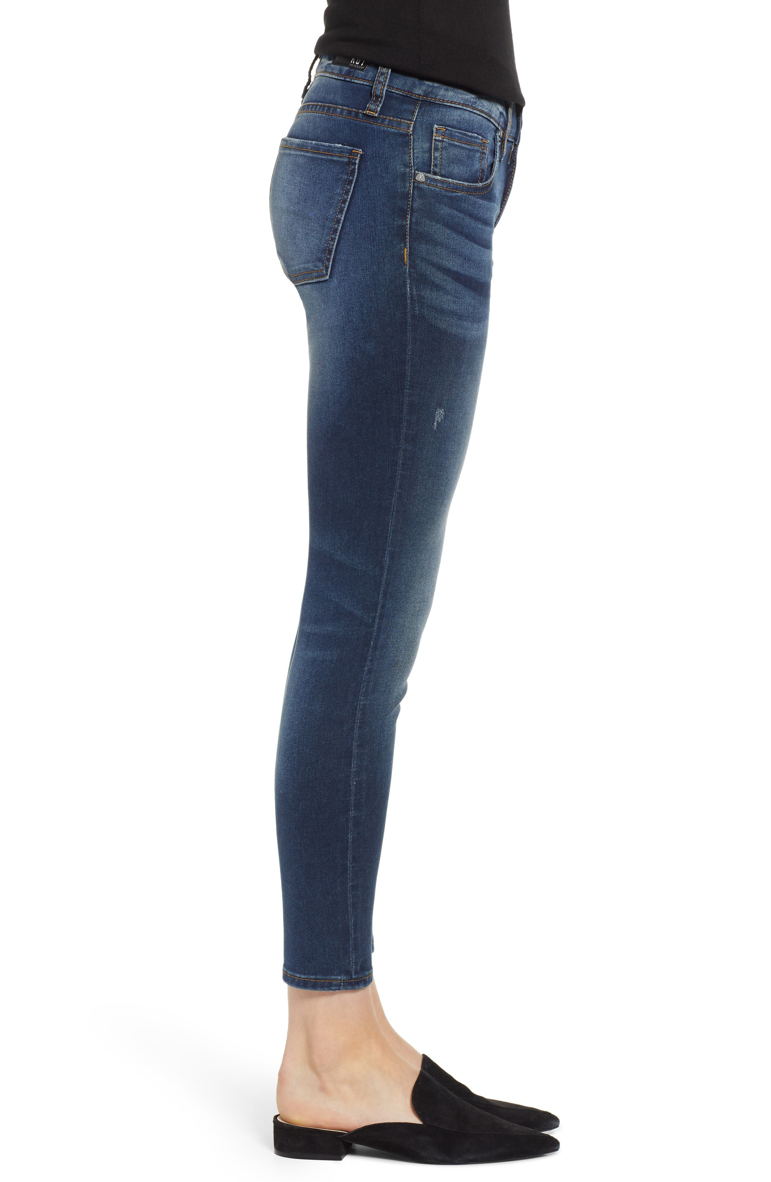 KUT FROM THE KLOTH, KUT From The Koth Donna Ankle Skinny Jeans, Alternate thumbnail 4, color, 400