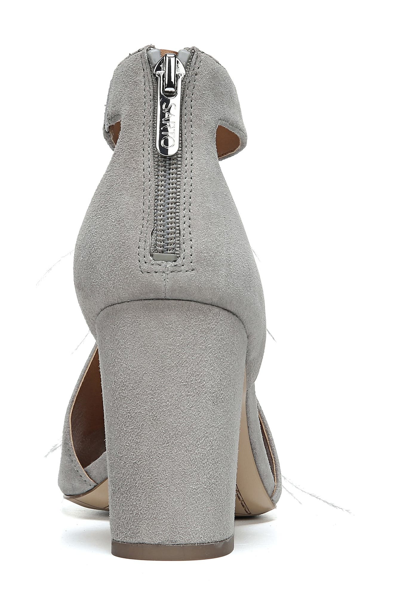 SARTO BY FRANCO SARTO, Olivette Sandal, Alternate thumbnail 9, color, GREYSTONE LEATHER