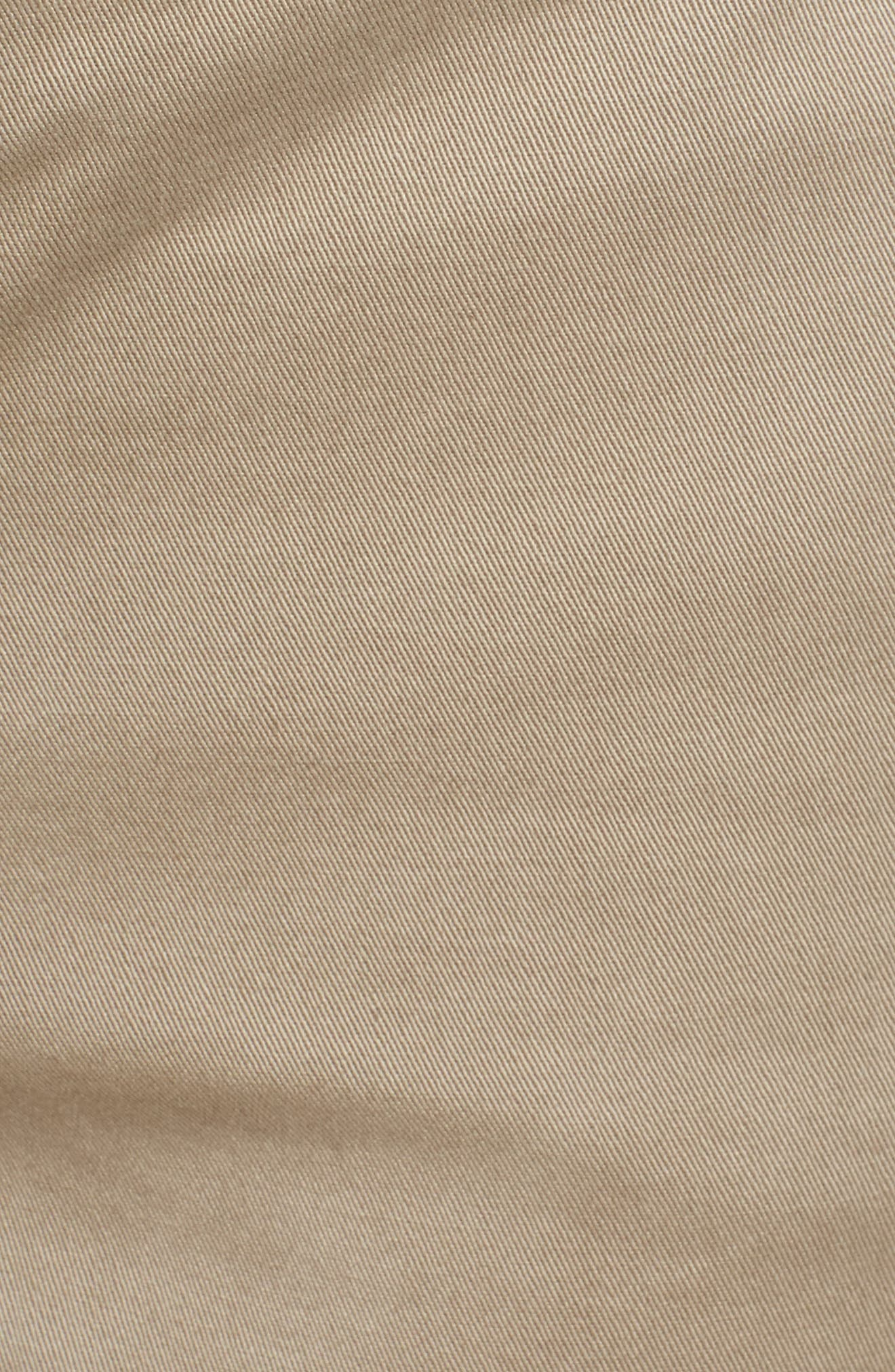 CASLON<SUP>®</SUP>, Cotton Twill Shorts, Alternate thumbnail 6, color, TAN COBBLESTONE