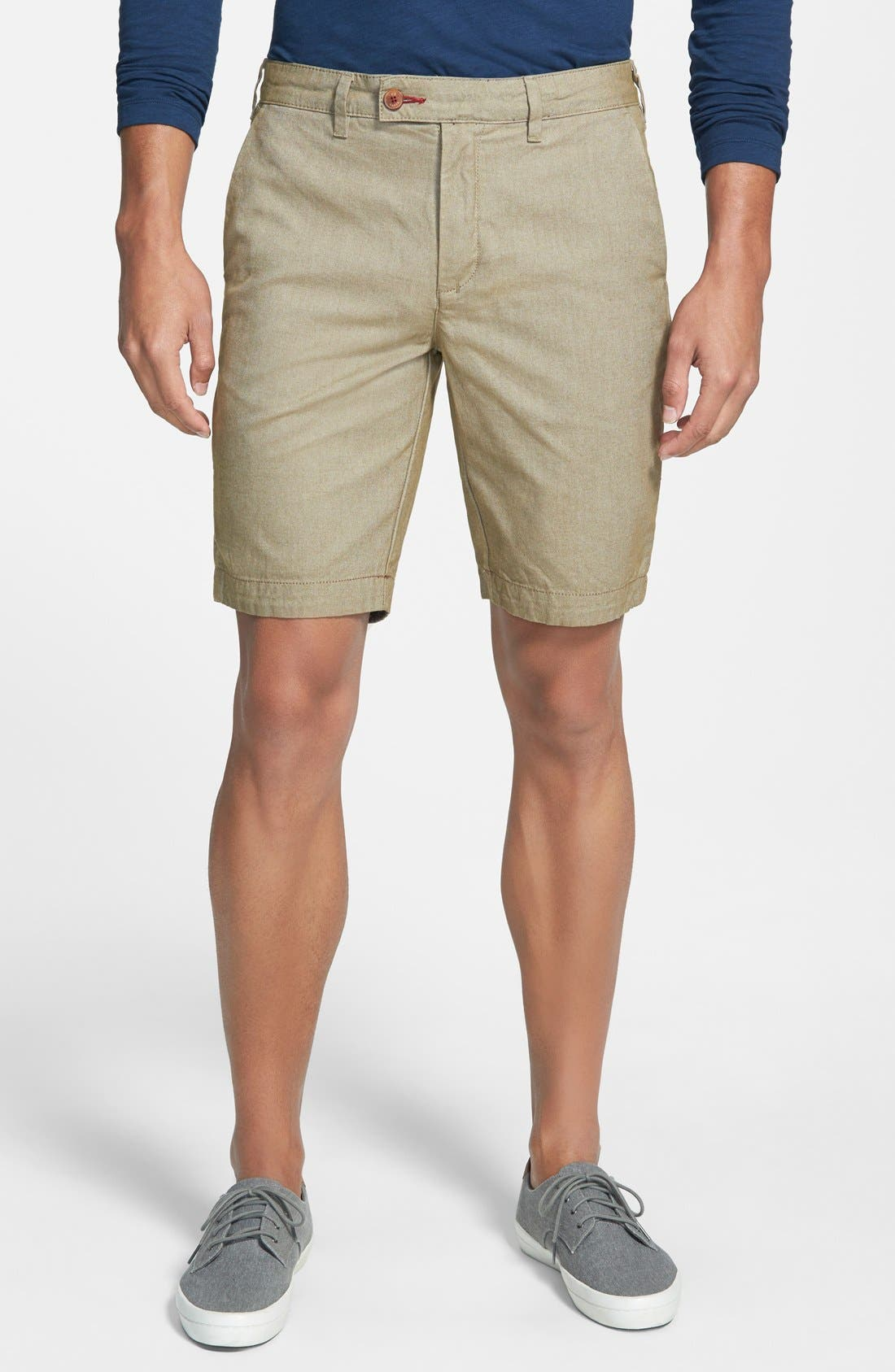 TED BAKER LONDON Twill Shorts, Main, color, 253