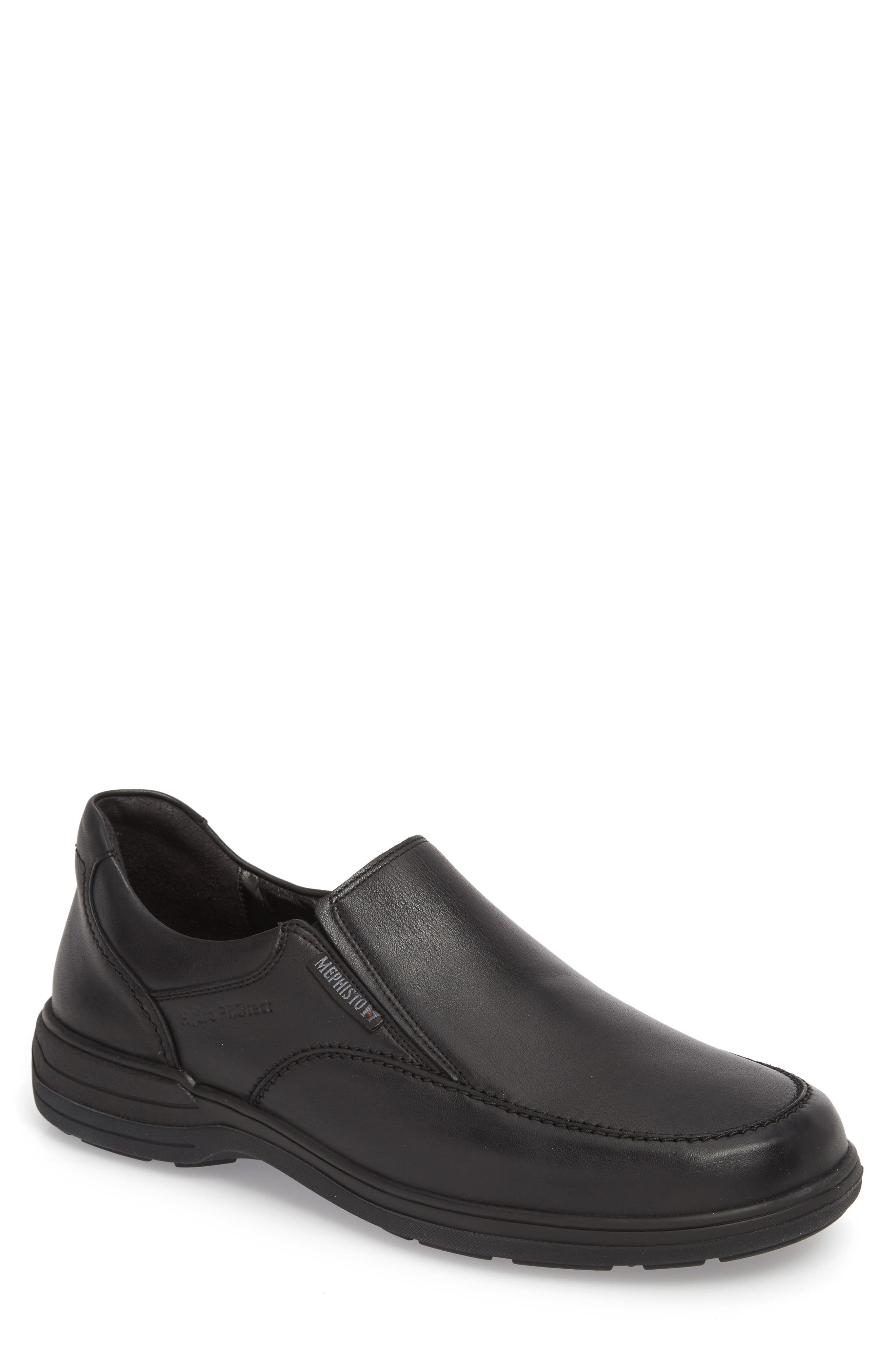 MEPHISTO, Davy Slip-On Men), Main thumbnail 1, color, BLACK LEATHER