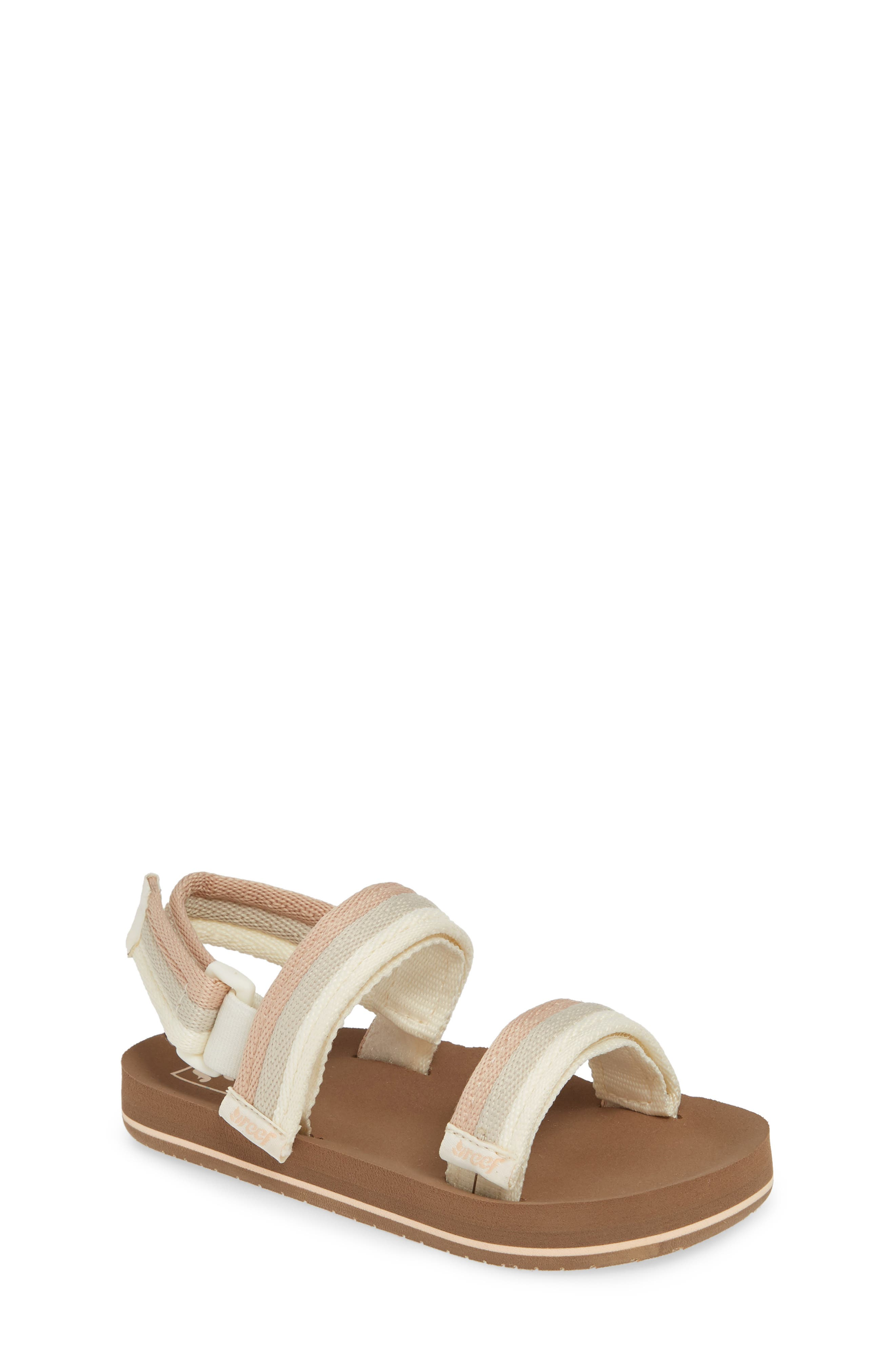 REEF Little Ahi Convertible Sandal, Main, color, SANDY TOES