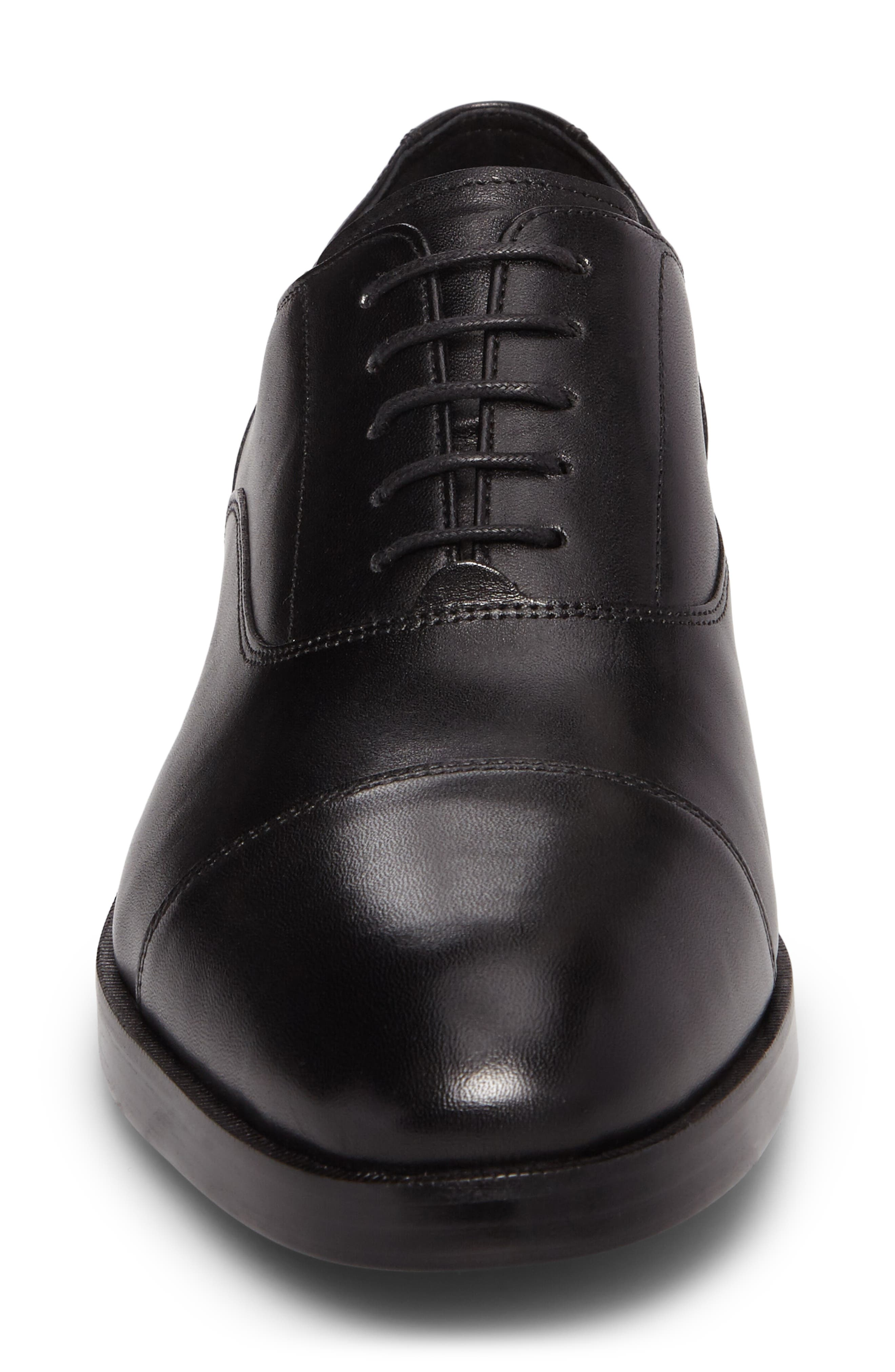 COLE HAAN, Harrison Grand Cap Toe Oxford, Alternate thumbnail 4, color, BLACK/ BLACK LEATHER