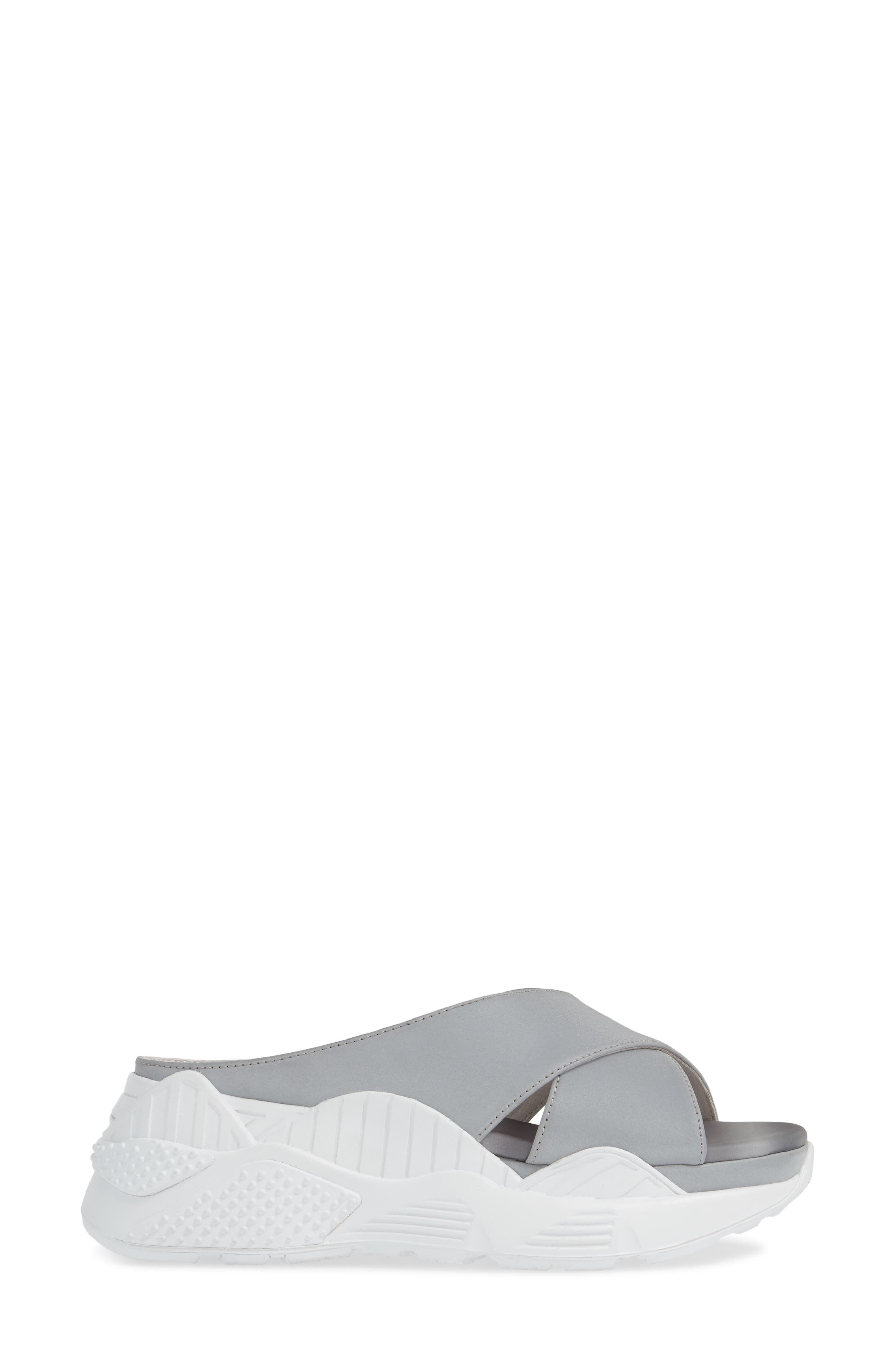 JEFFREY CAMPBELL, Sector Sport Slide Sandal, Alternate thumbnail 3, color, REFLECTIVE