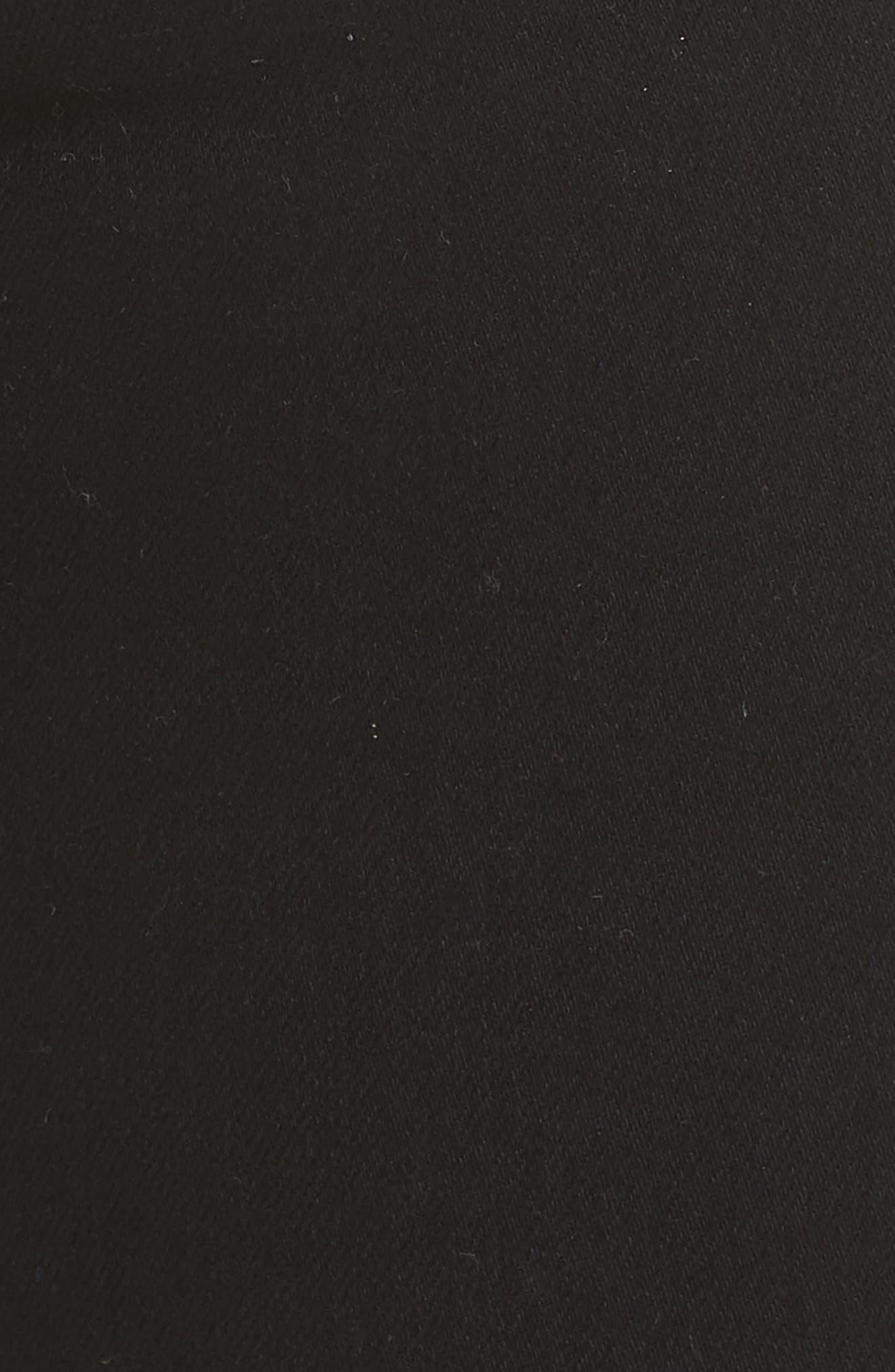 RAG & BONE, 'The Skinny' Stretch Jeans, Alternate thumbnail 7, color, COAL