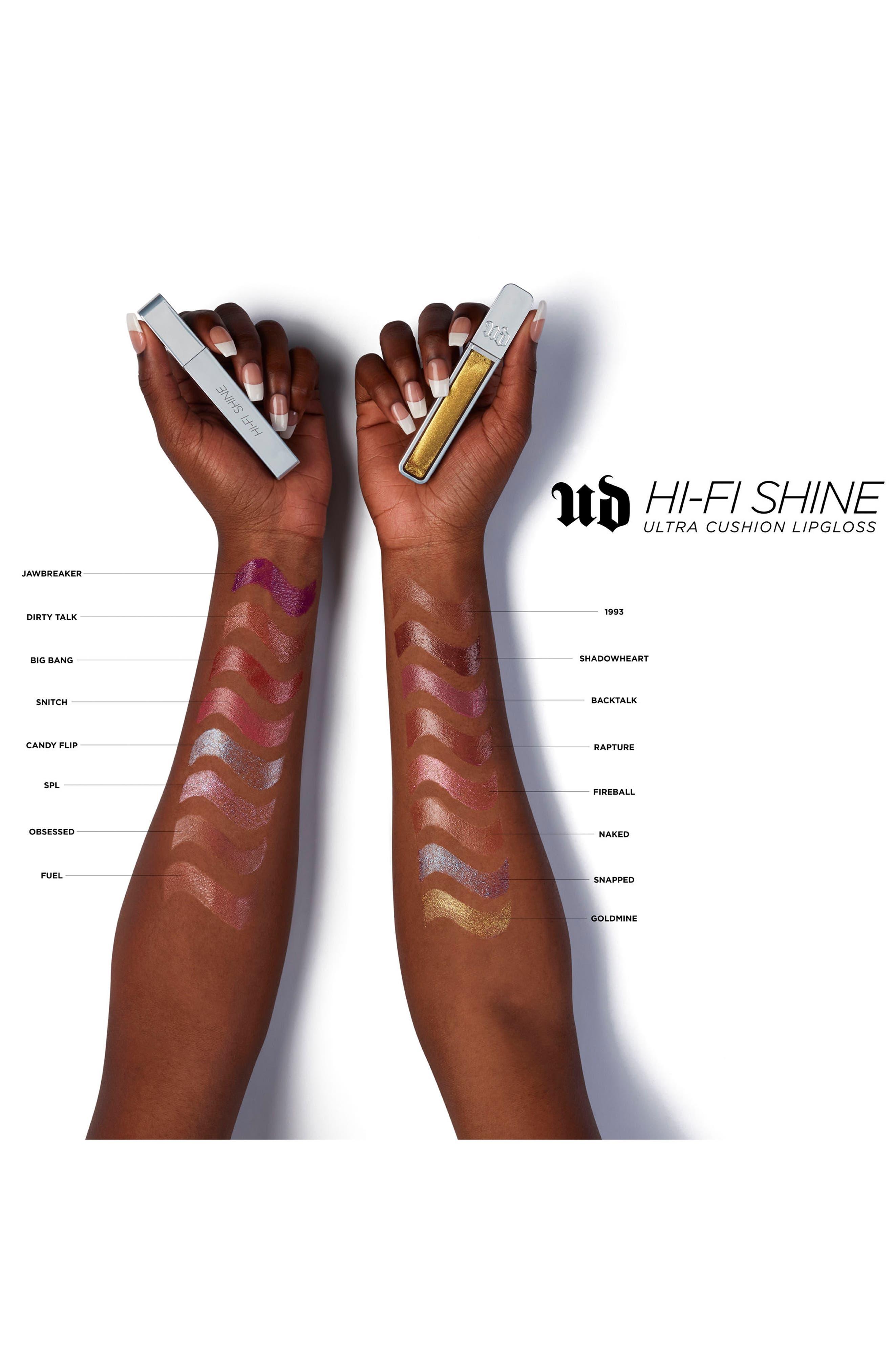 URBAN DECAY, Hi-Fi Shine Ultra Cushion Lipgloss, Alternate thumbnail 6, color, SNAPPED