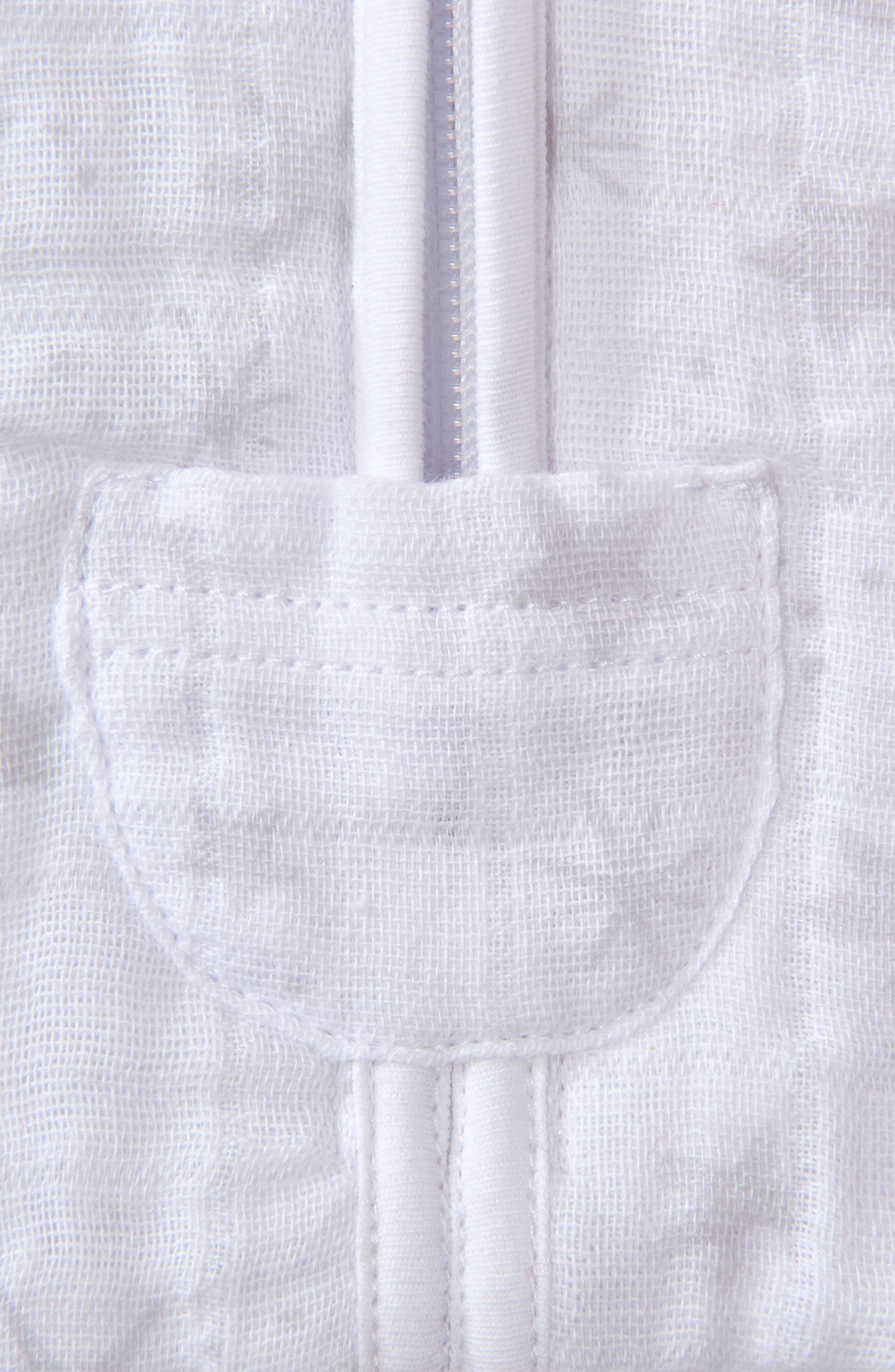 HALO<SUP>®</SUP>, Platinum Series SleepSack<sup>™</sup> Quilted Swaddle, Alternate thumbnail 4, color, GREY CONSTELLATION