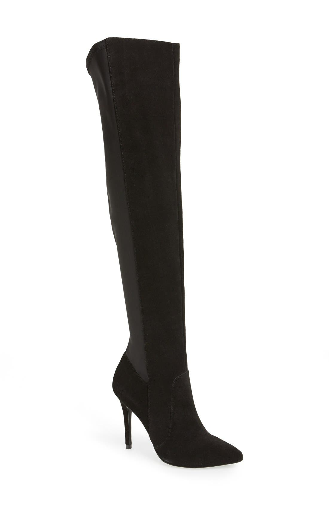 CHARLES BY CHARLES DAVID, 'Paso' Over The Knee Boot, Main thumbnail 1, color, 002