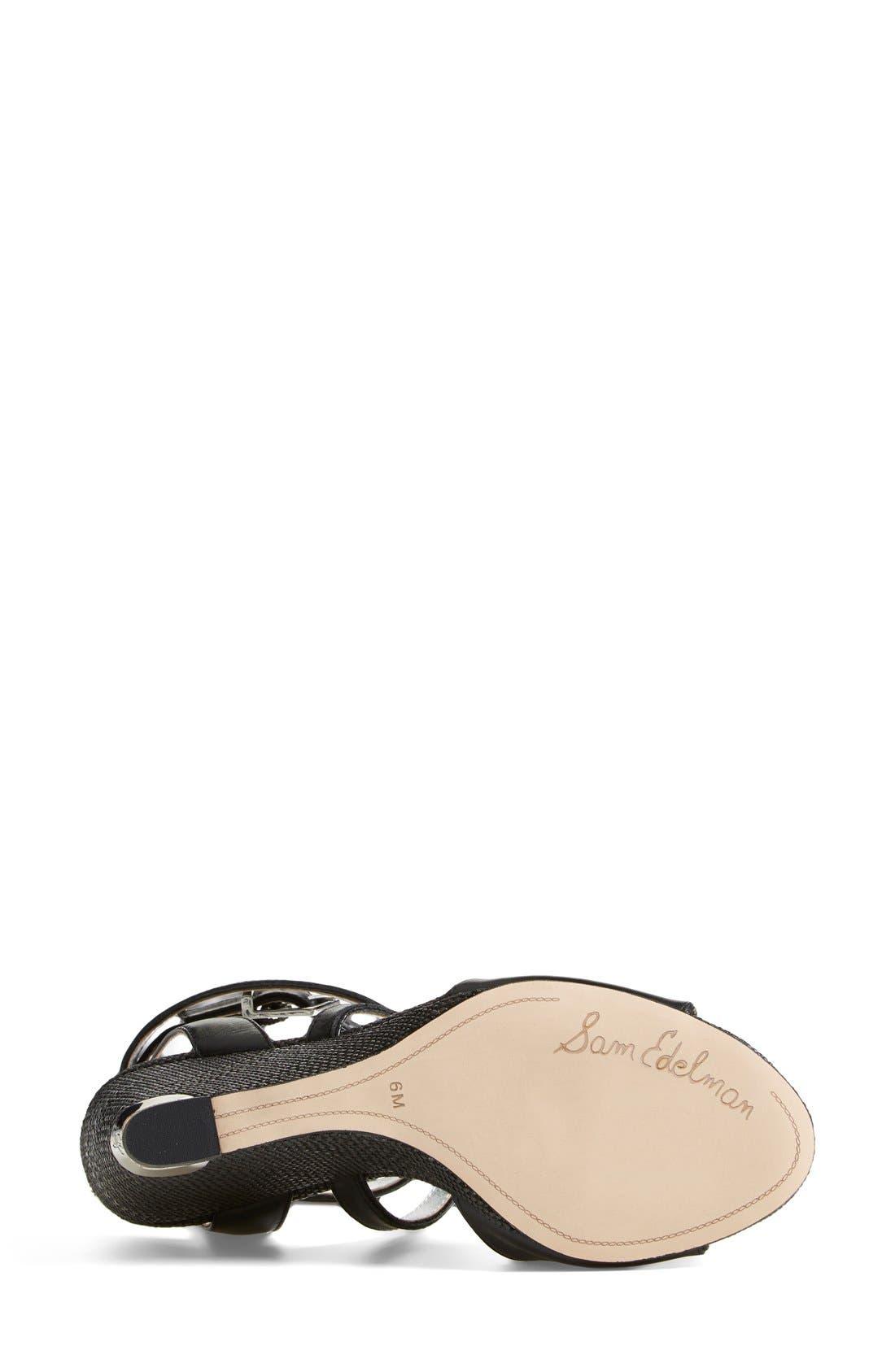SAM EDELMAN, 'Samara' Wedge Sandal, Alternate thumbnail 2, color, 002