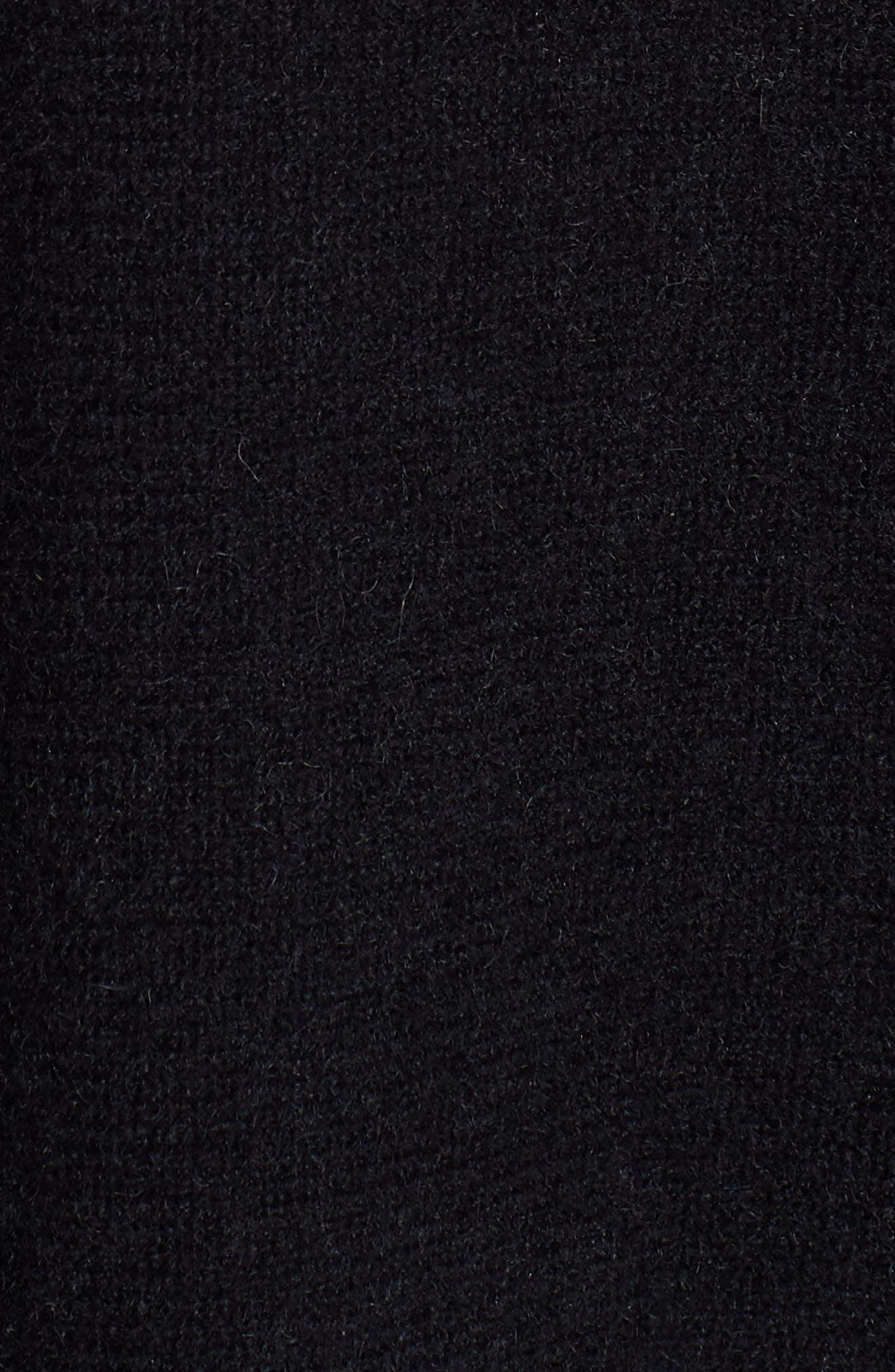 HALOGEN<SUP>®</SUP>, Cashmere Cardigan, Alternate thumbnail 5, color, BLACK