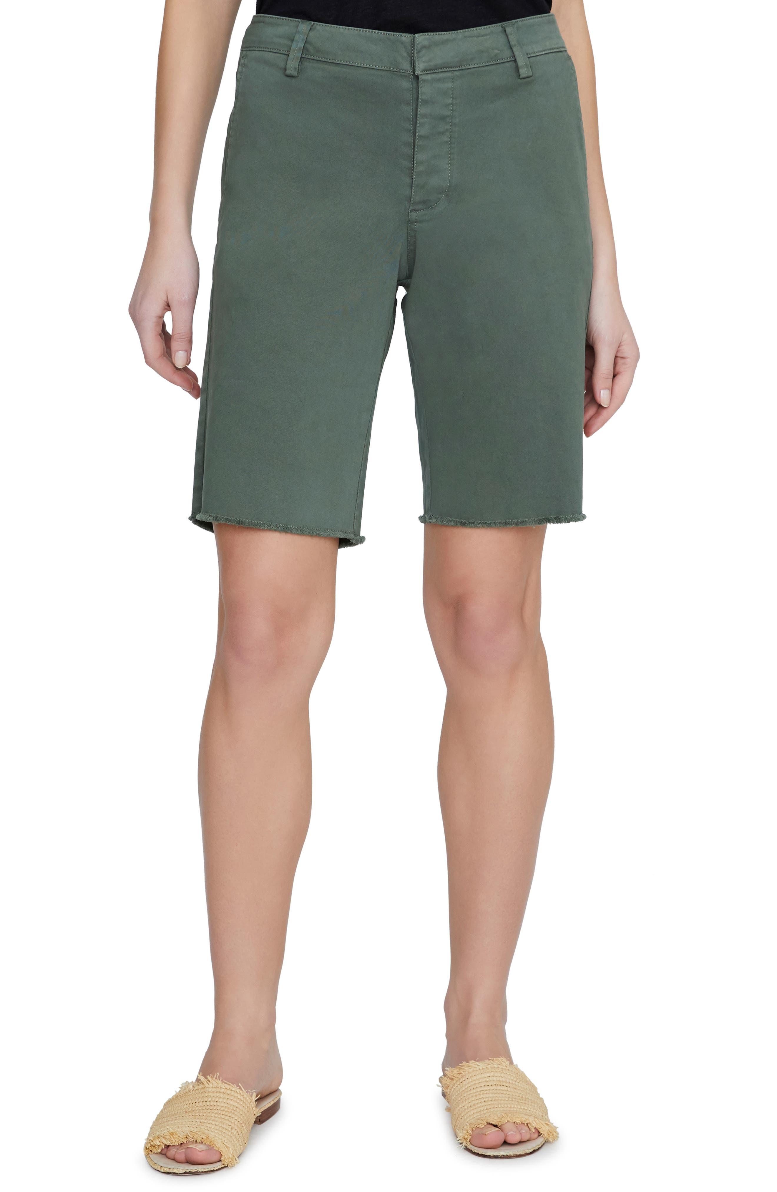 SANCTUARY Boardwalk Bermuda Shorts, Main, color, PEACE GREEN
