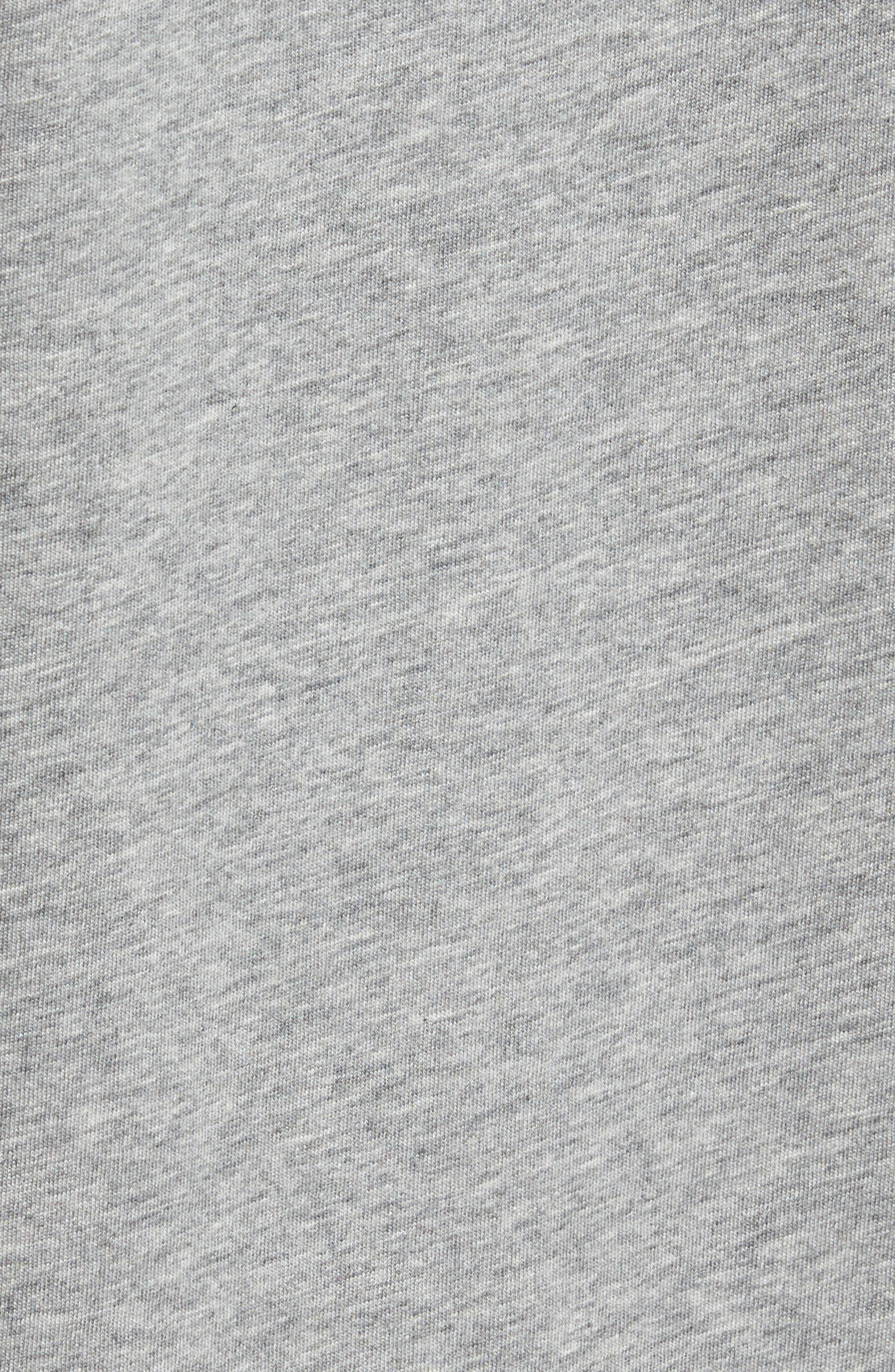 PSYCHO BUNNY, Classic V-Neck T-Shirt, Alternate thumbnail 5, color, HEATHER GREY