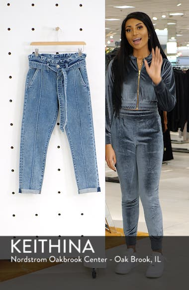 Paperbag Waist Crop Skinny Jeans, sales video thumbnail