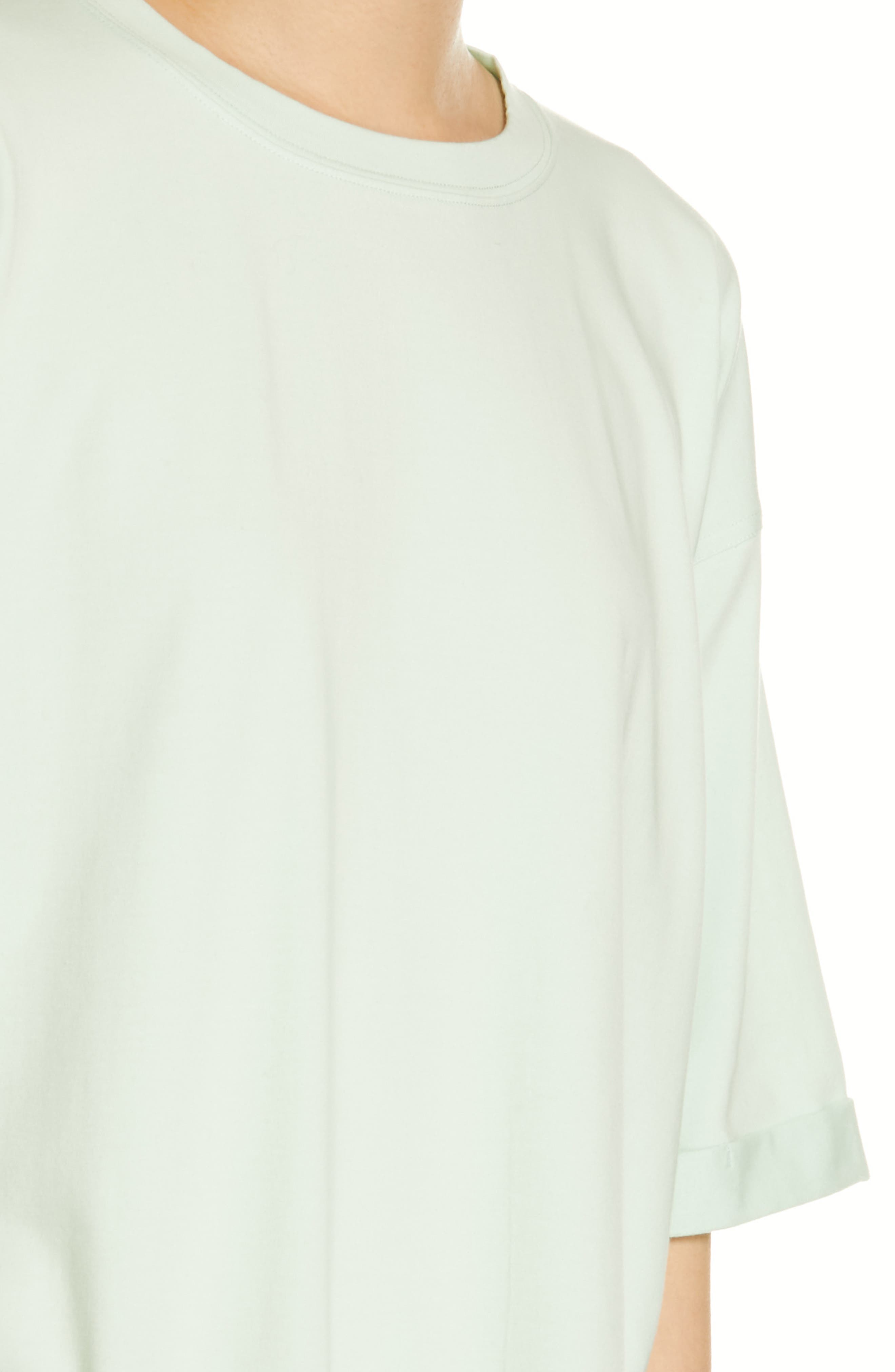 EILEEN FISHER, Stretch Organic Cotton Top, Alternate thumbnail 4, color, PRISM