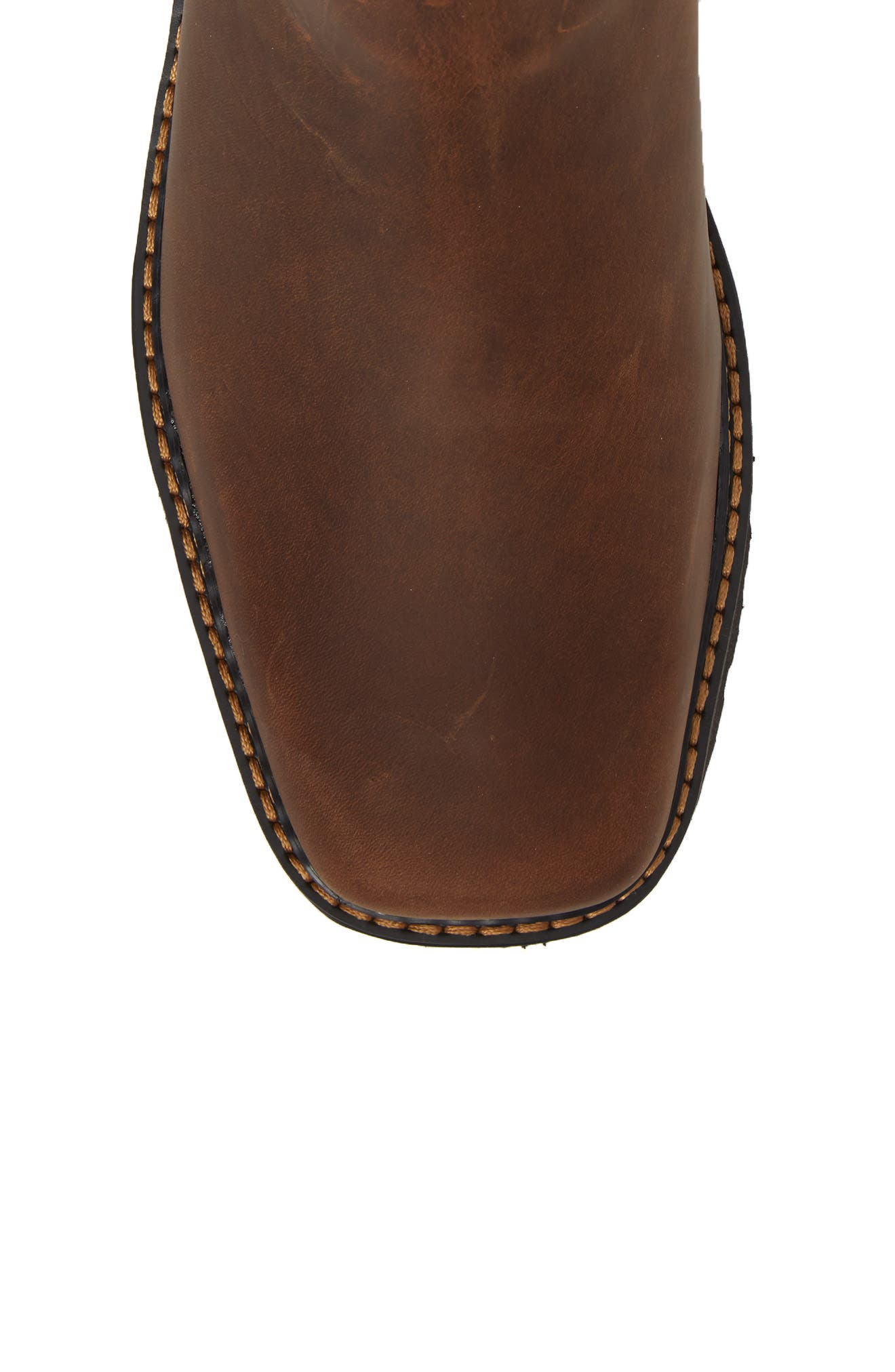ARIAT, 'Spot Hog' Chelsea Boot, Alternate thumbnail 5, color, DISTRESSED BROWN LEATHER