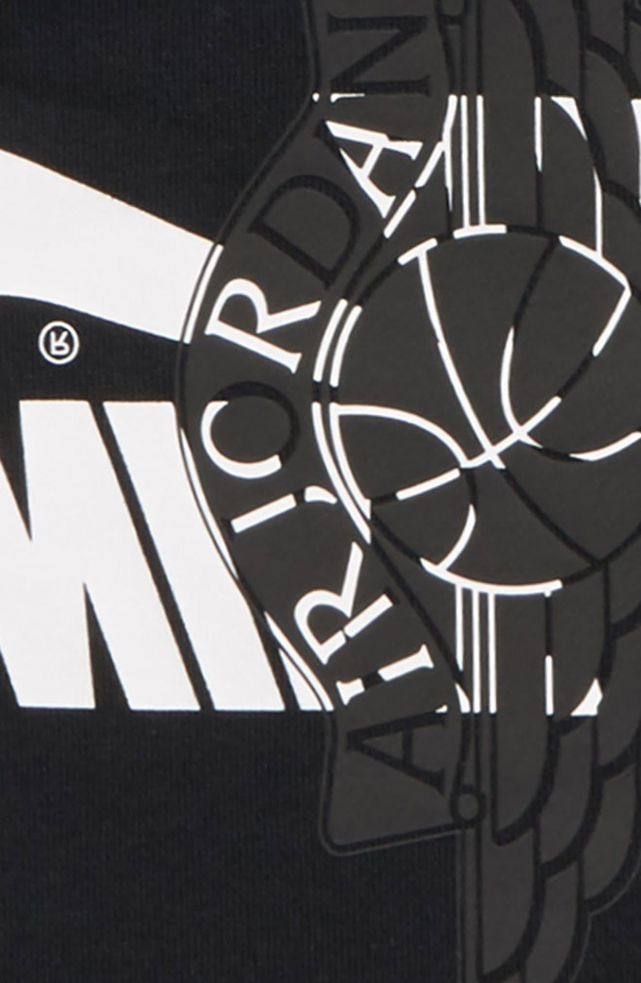 JORDAN, Futura Wings Graphic Hoodie, Alternate thumbnail 2, color, BLACK