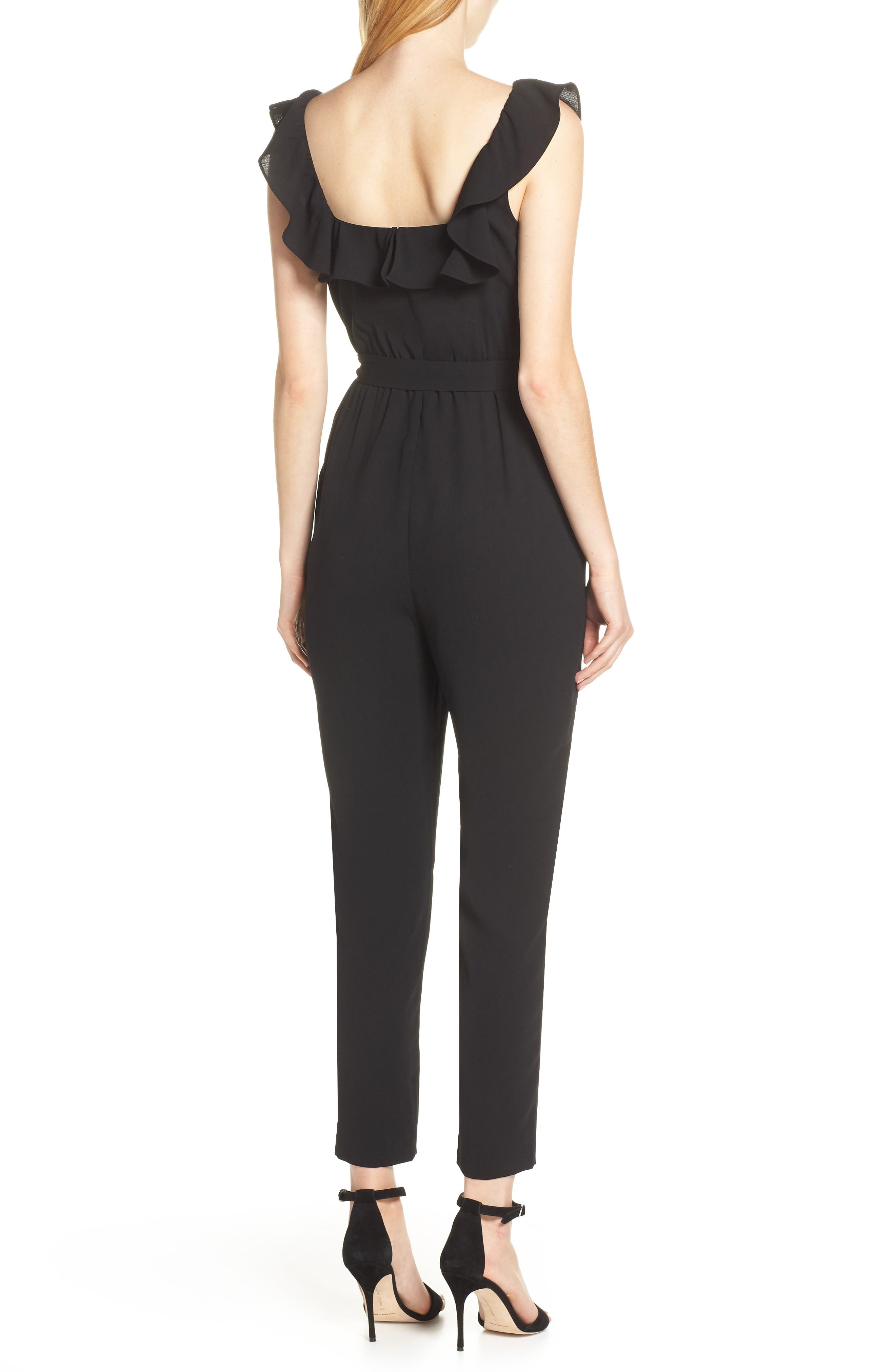 ALI & JAY, Say You Will Stay Crepe Jumpsuit, Alternate thumbnail 2, color, BLACK