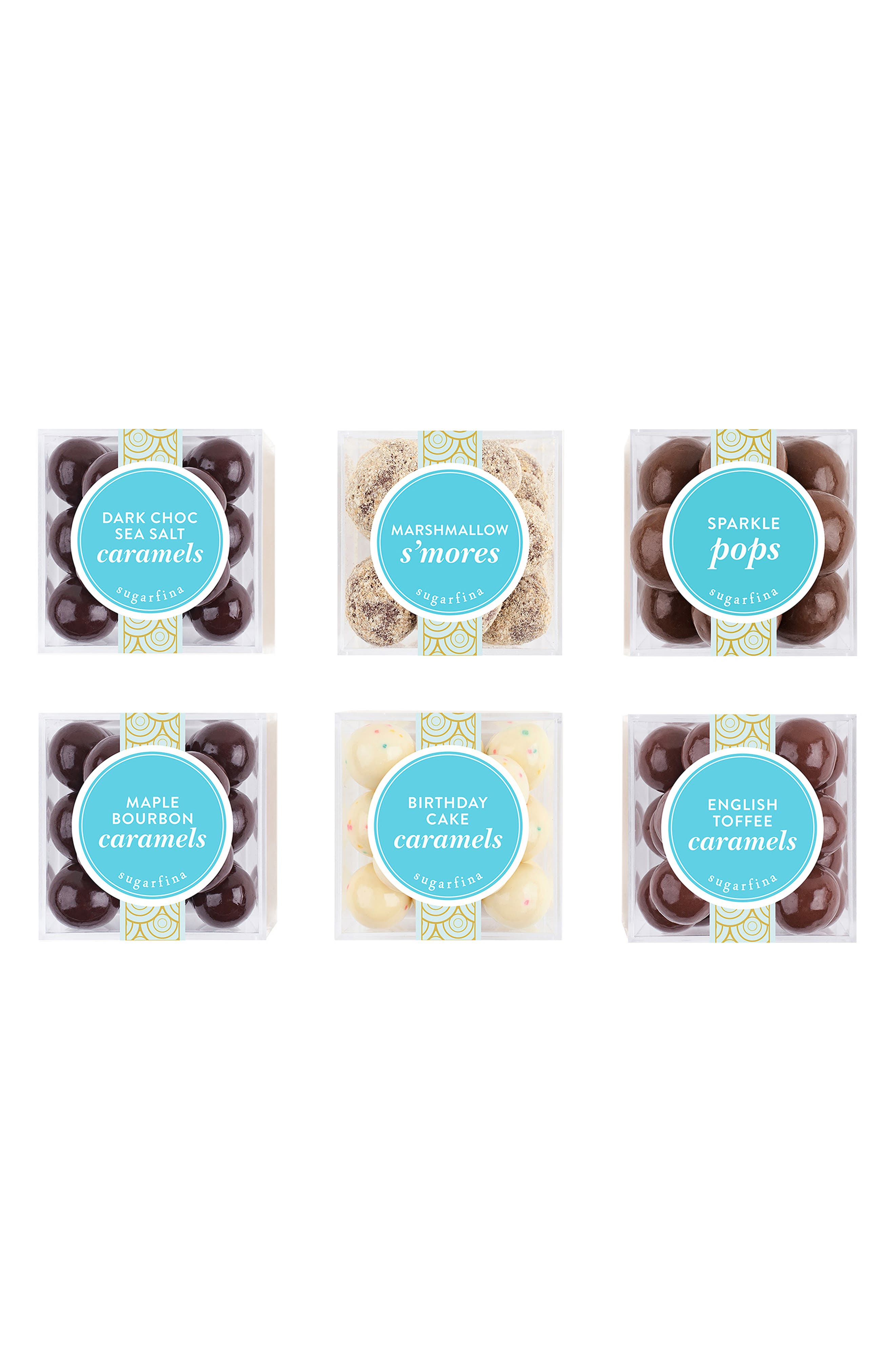 SUGARFINA, Set of 6 Chocolate Lovers' Delight Candy Boxes, Main thumbnail 1, color, 200