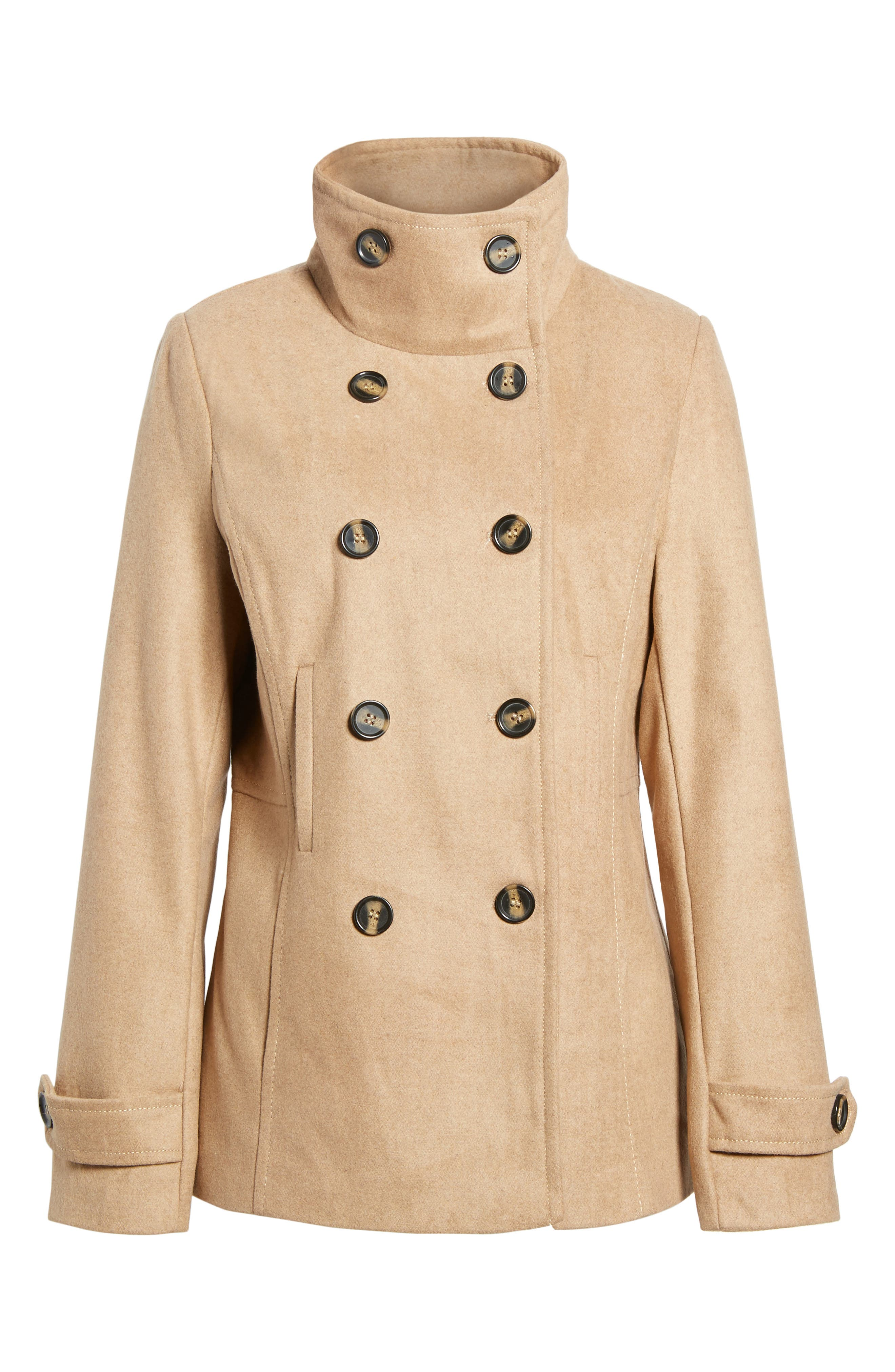 THREAD & SUPPLY Double Breasted Peacoat, Main, color, 200