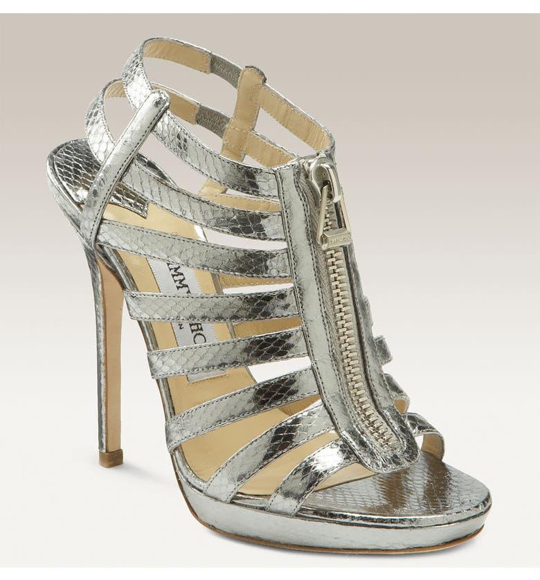 17360890f4dc6 JIMMY CHOO 'Glenys' Zipper Sandal, Main, color, ...