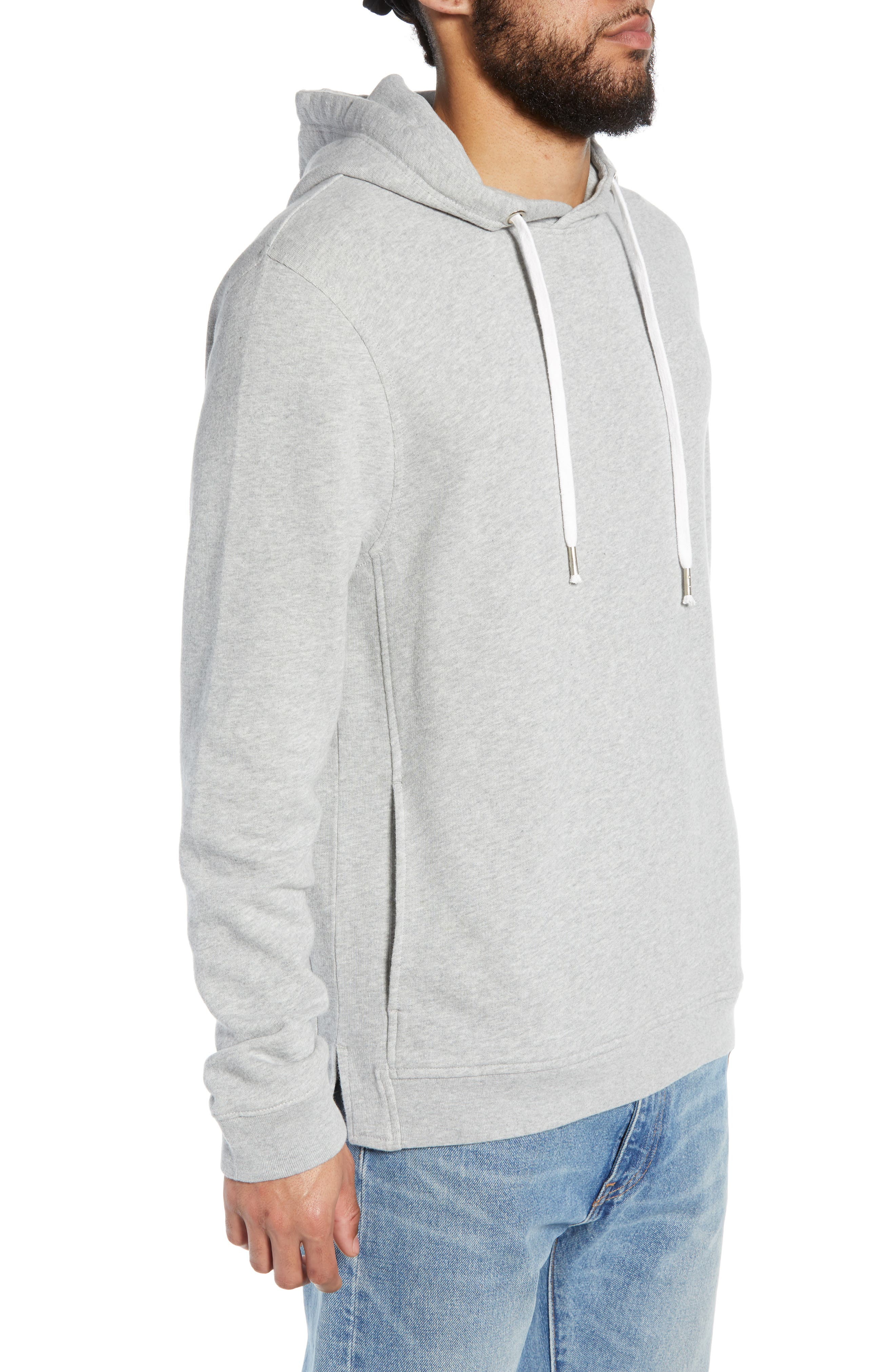 THE RAIL, Heather Sunfaded Hoodie, Alternate thumbnail 3, color, GREY ASH HEATHER