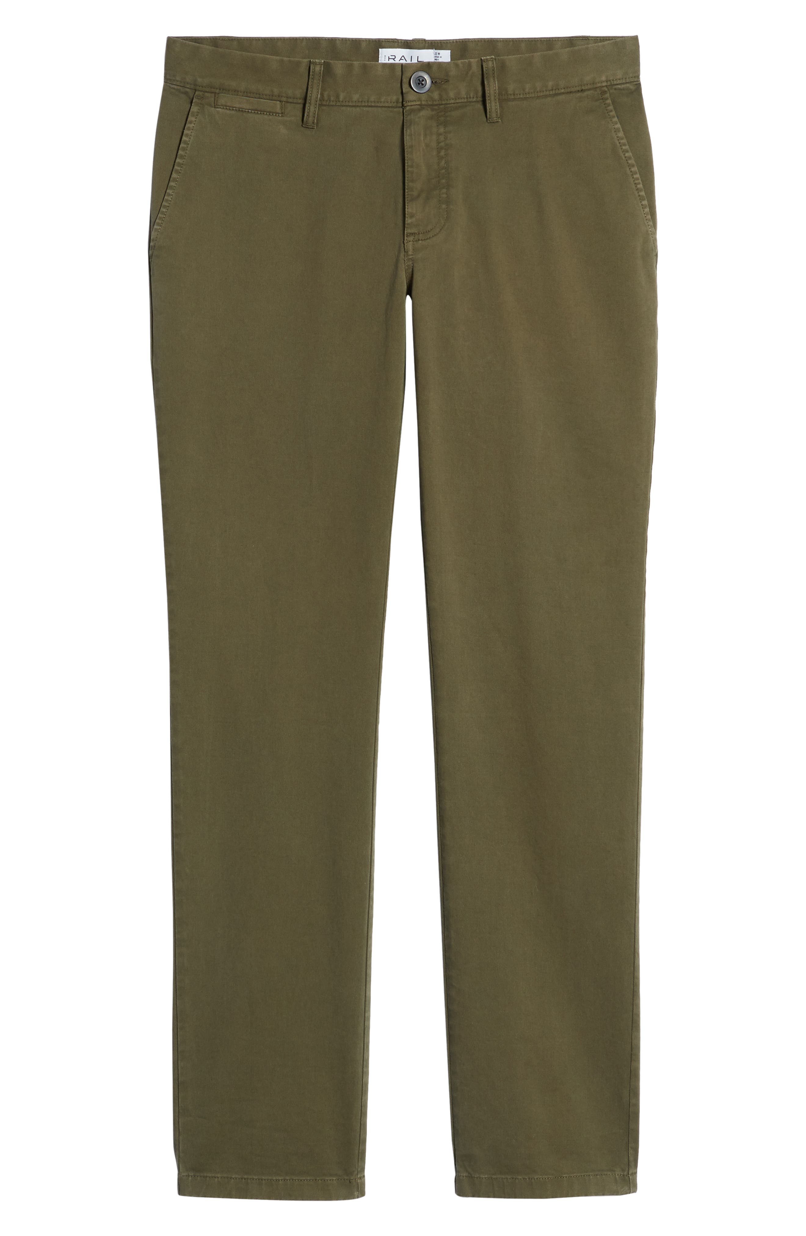 THE RAIL, Slim Fit Chinos, Alternate thumbnail 7, color, OLIVE GROVE