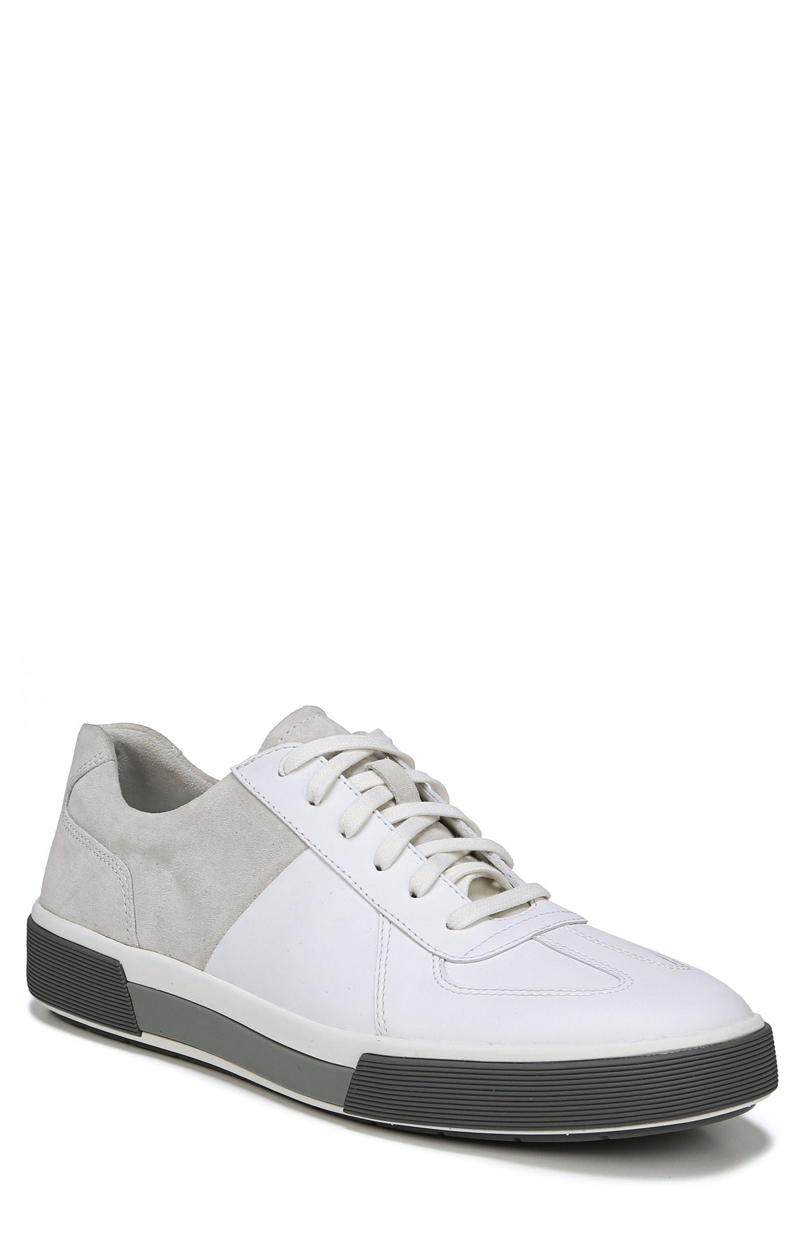 VINCE, Rogue Low Top Sneaker, Main thumbnail 1, color, WHITE/ HORCHATA