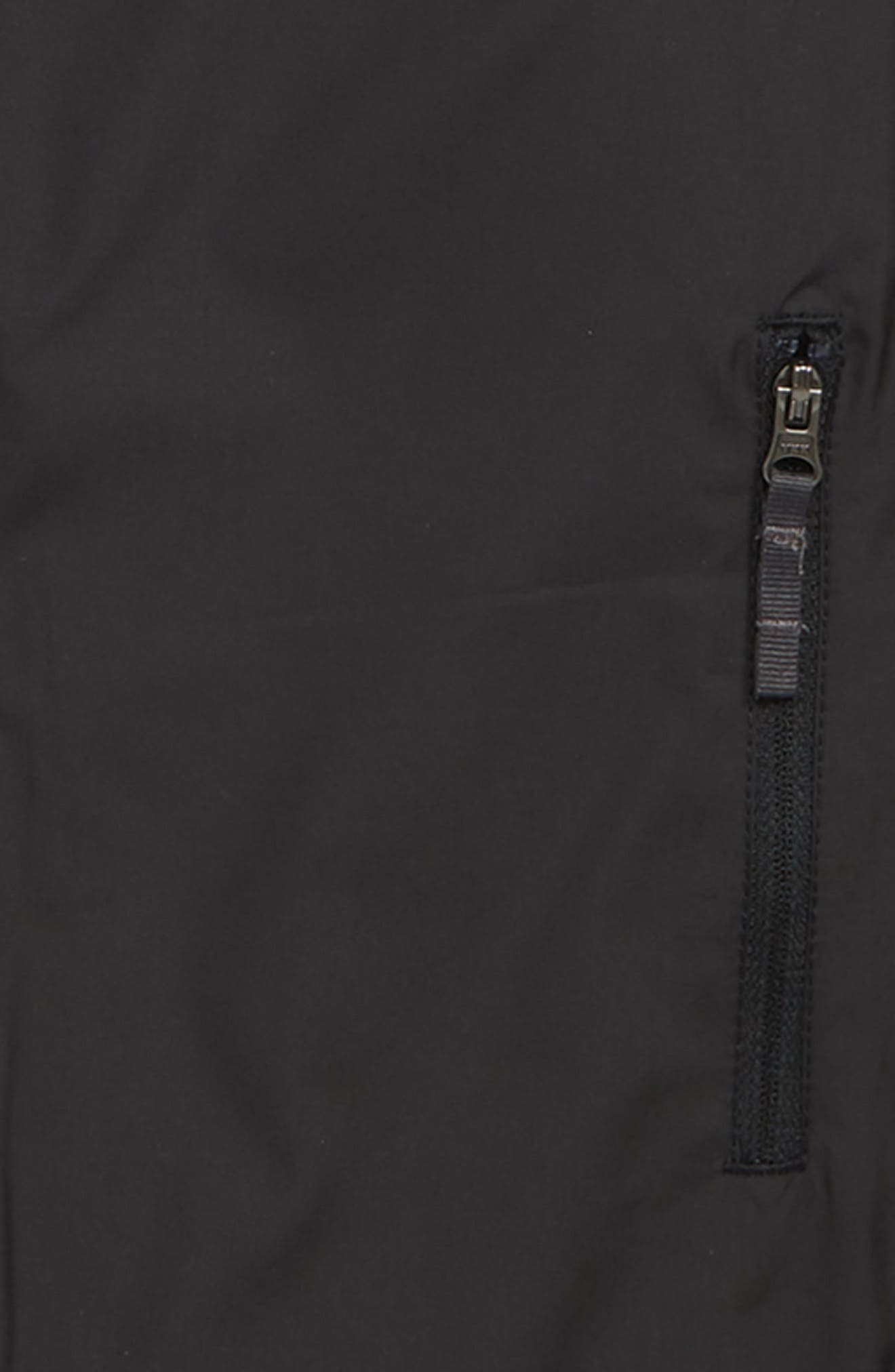 THE NORTH FACE, Windy Crest Water Repellent Jacket, Alternate thumbnail 2, color, BLACK