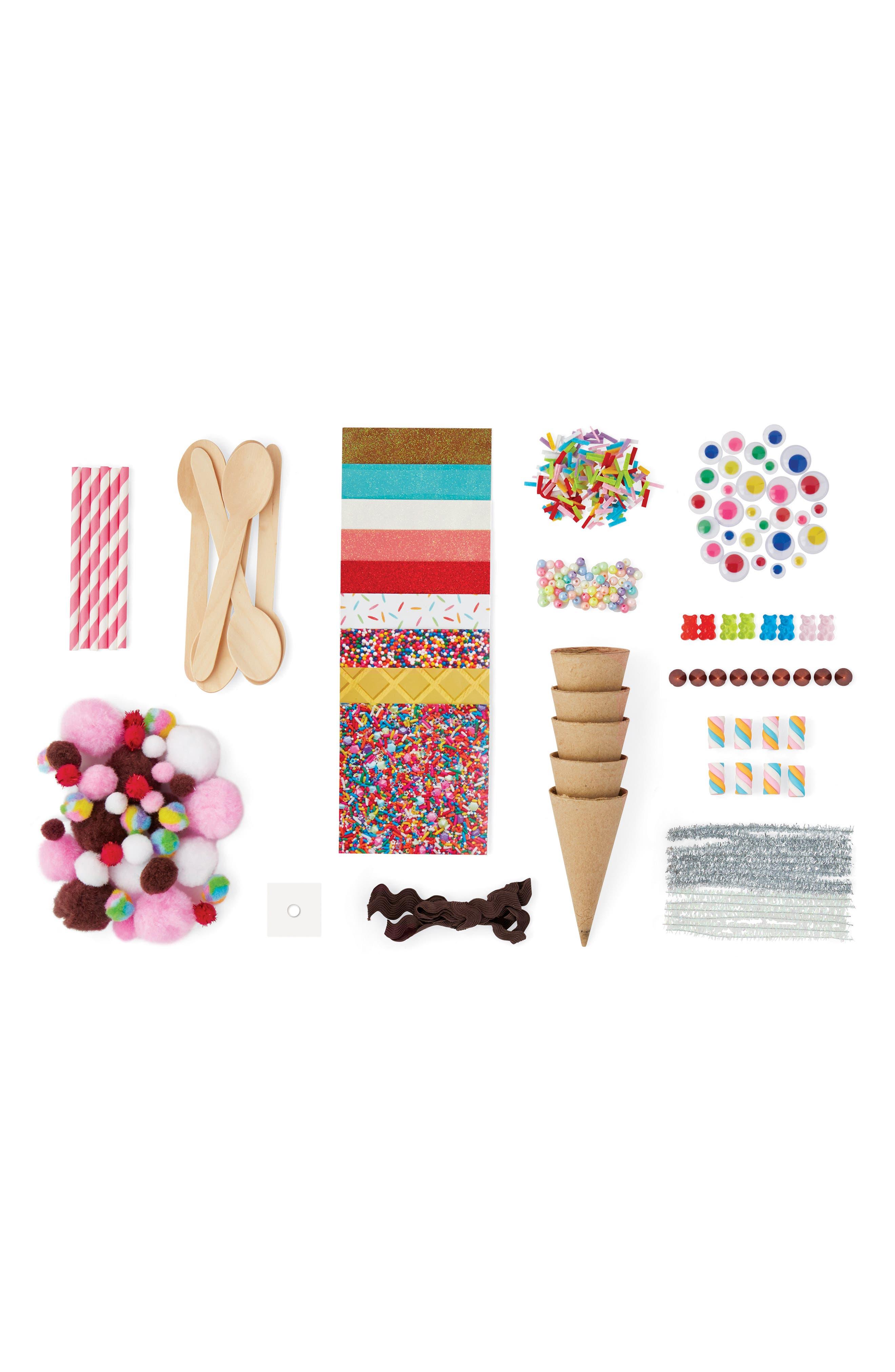 KID MADE MODERN, Ice Cream Craft Kit, Alternate thumbnail 3, color, MULTI
