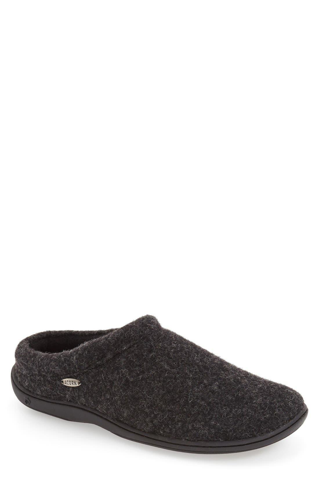 ACORN 'Digby' Slipper, Main, color, BLACK TWEED