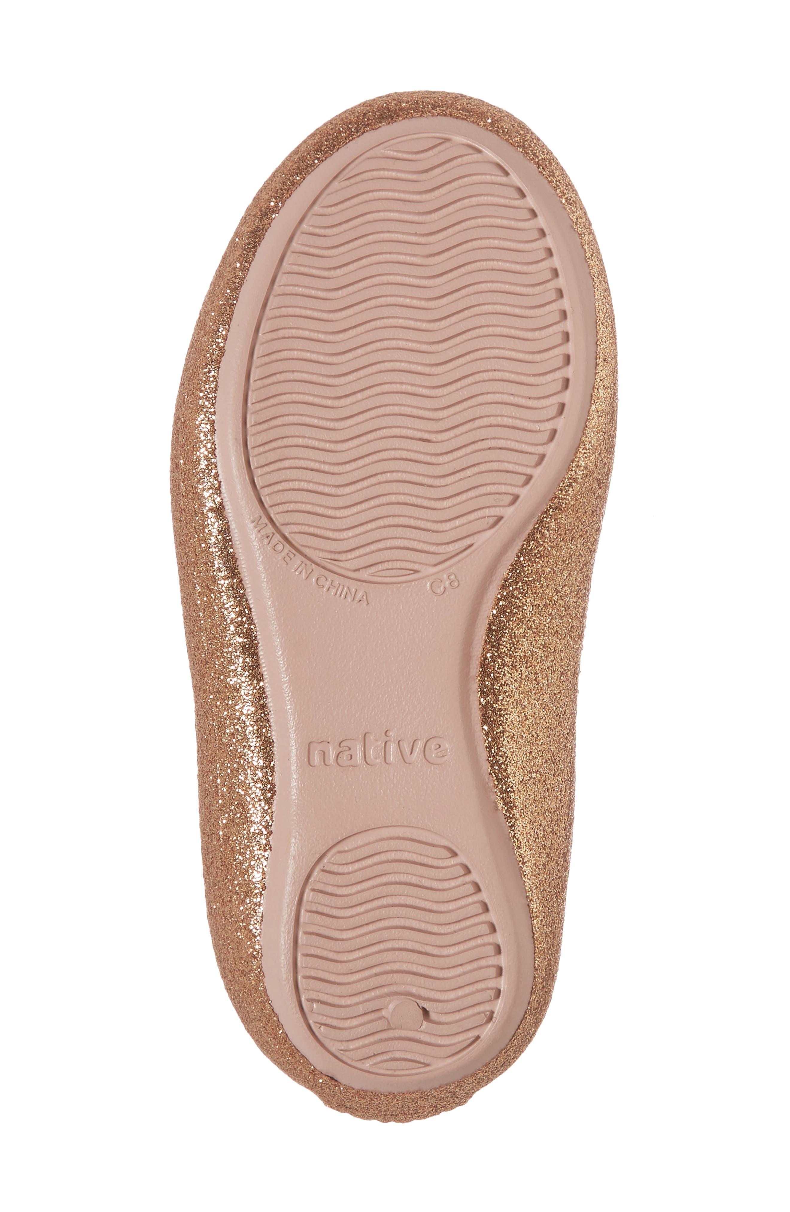 NATIVE SHOES, Margot Bling Glitter Vegan Mary Jane, Alternate thumbnail 6, color, ROSE GOLD BLING