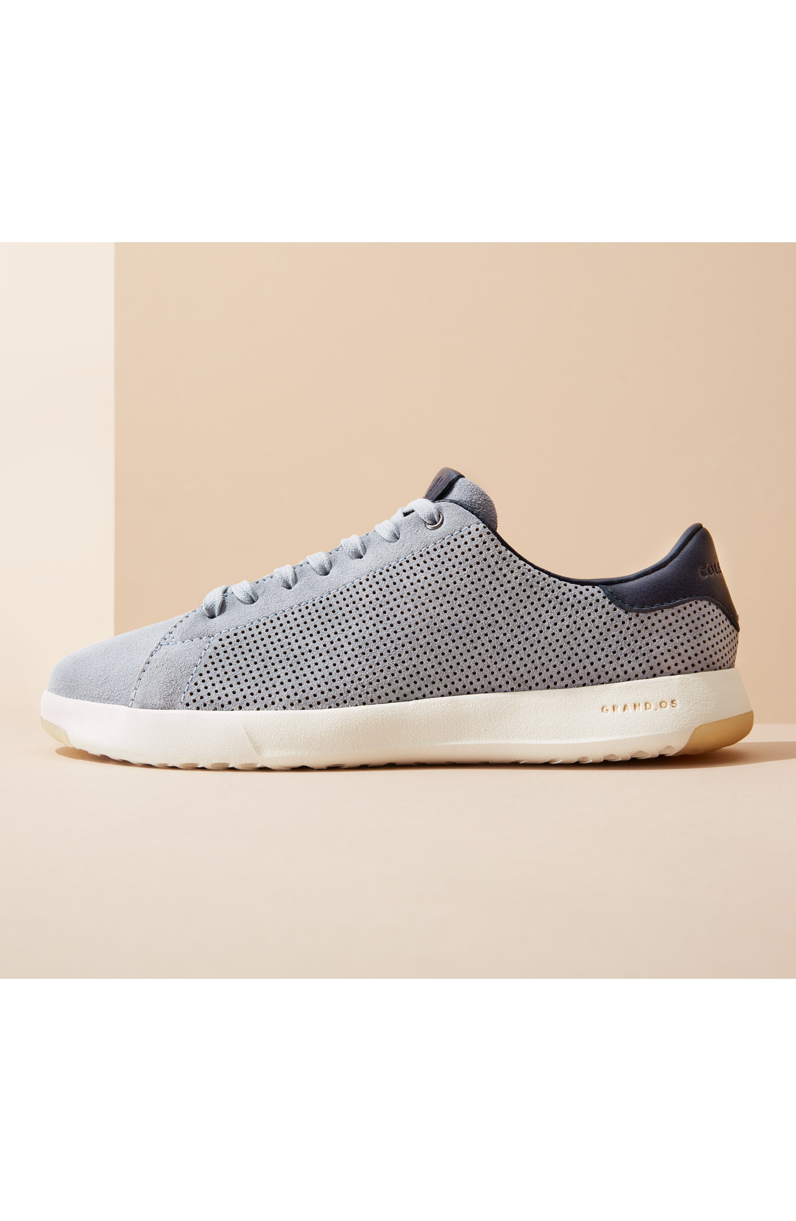 COLE HAAN, GrandPro Tennis Sneaker, Alternate thumbnail 12, color, GREY SUEDE